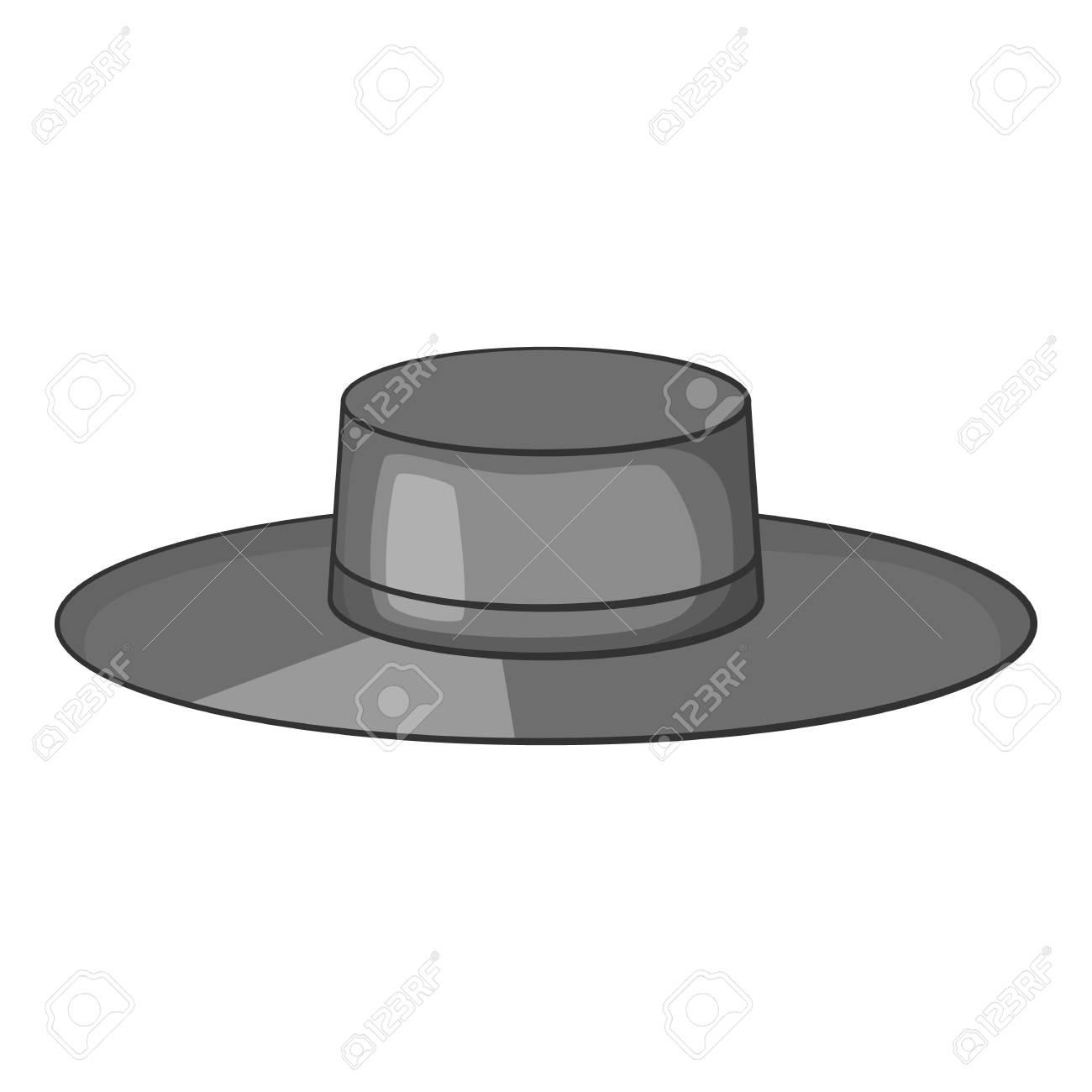 f0d707d052ac6 Foto de archivo - Icono de sombrero. Ilustración monocromática gris del  icono de vector de sombrero para web