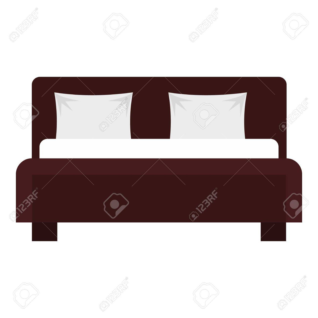 Double Bed Icon Flat Illustration Of Bed Vector Icon For Web