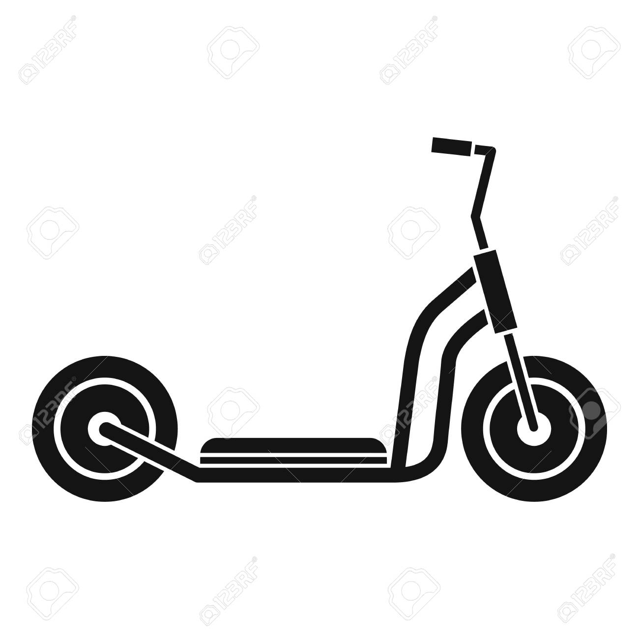 kick scooter icon simple illustration of kick scooter vector royalty free cliparts vectors and stock illustration image 64353561 kick scooter icon simple illustration of kick scooter vector