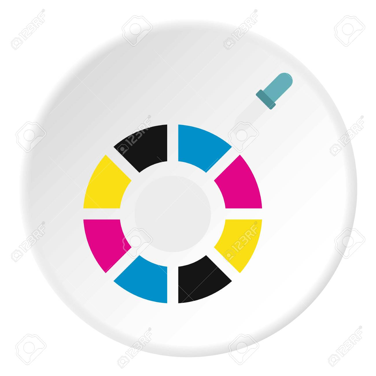 choix de la couleur icône. illustration plat de choix de vecteur de