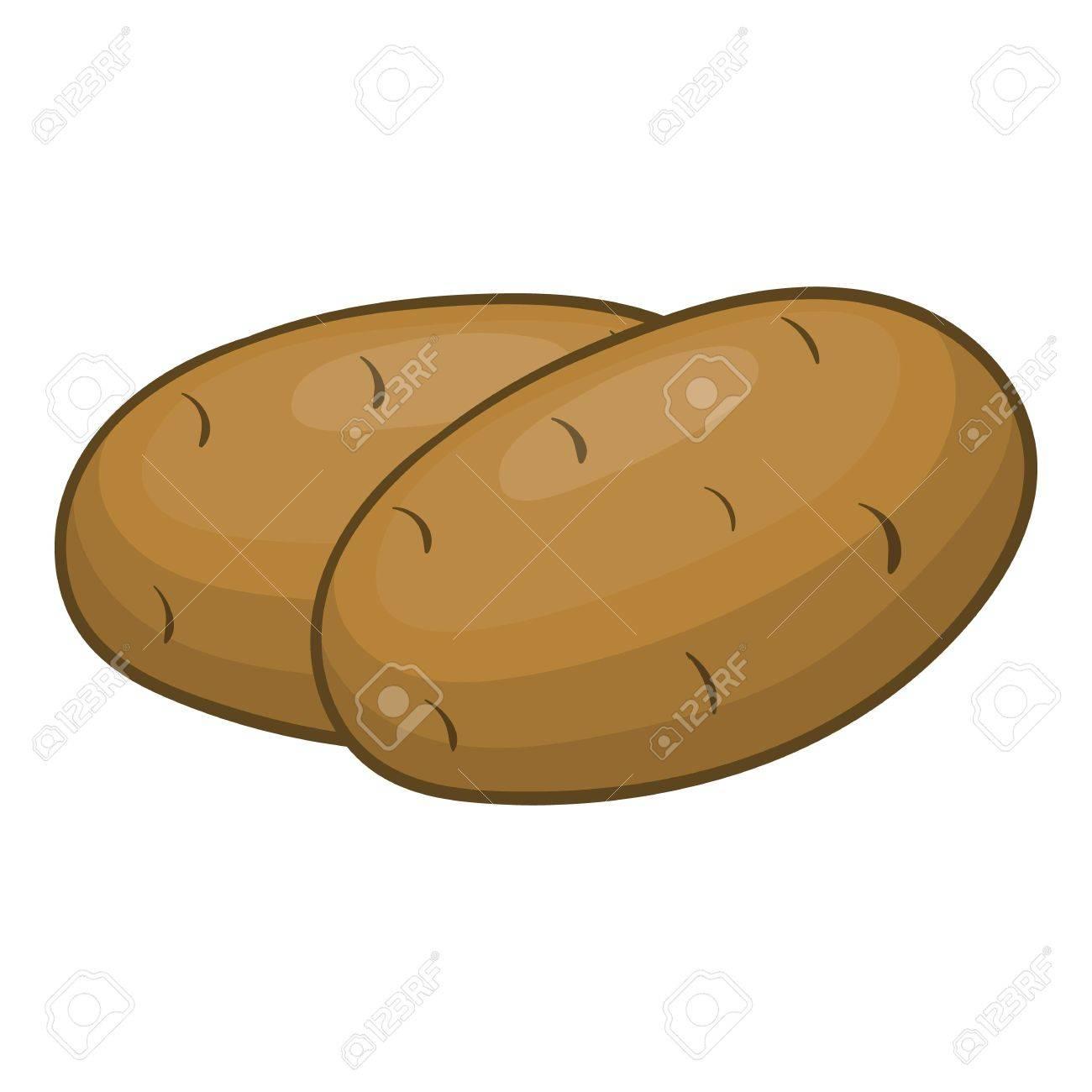 Patatas Icono Ilustración De Dibujos Animados De Patata Icono