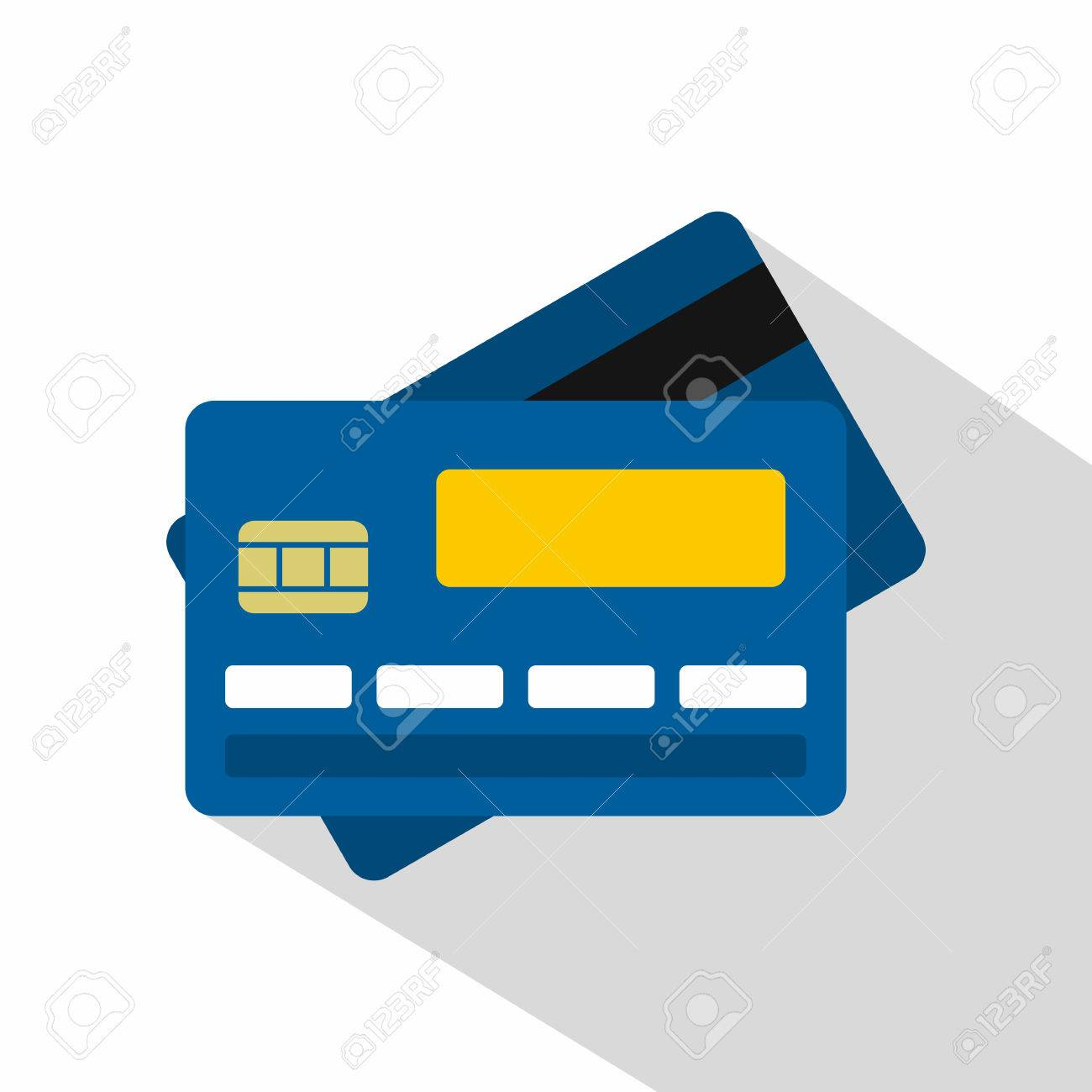 credit card icon flat illustration of credit card vector icon rh 123rf com black and white credit card logos vector