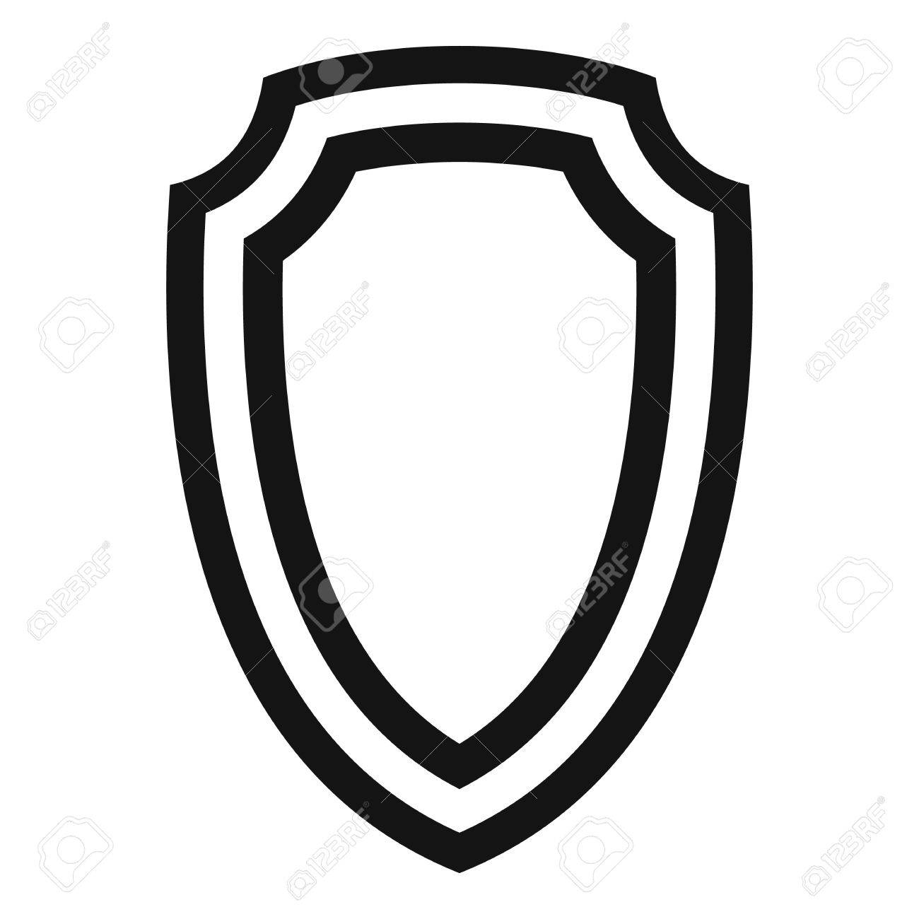 army shield icon simple illustration of army shield vector icon rh 123rf com police shield vector art shield artwork vector