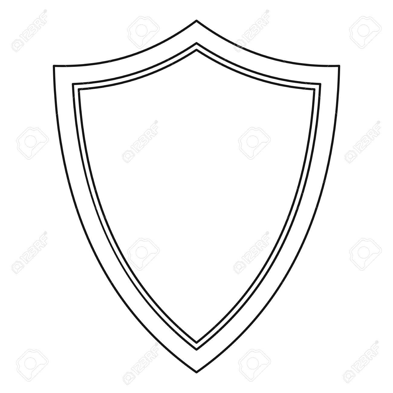Shield for war icon outline illustration of shield for war vector shield for war icon outline illustration of shield for war vector icon for web stock biocorpaavc Images