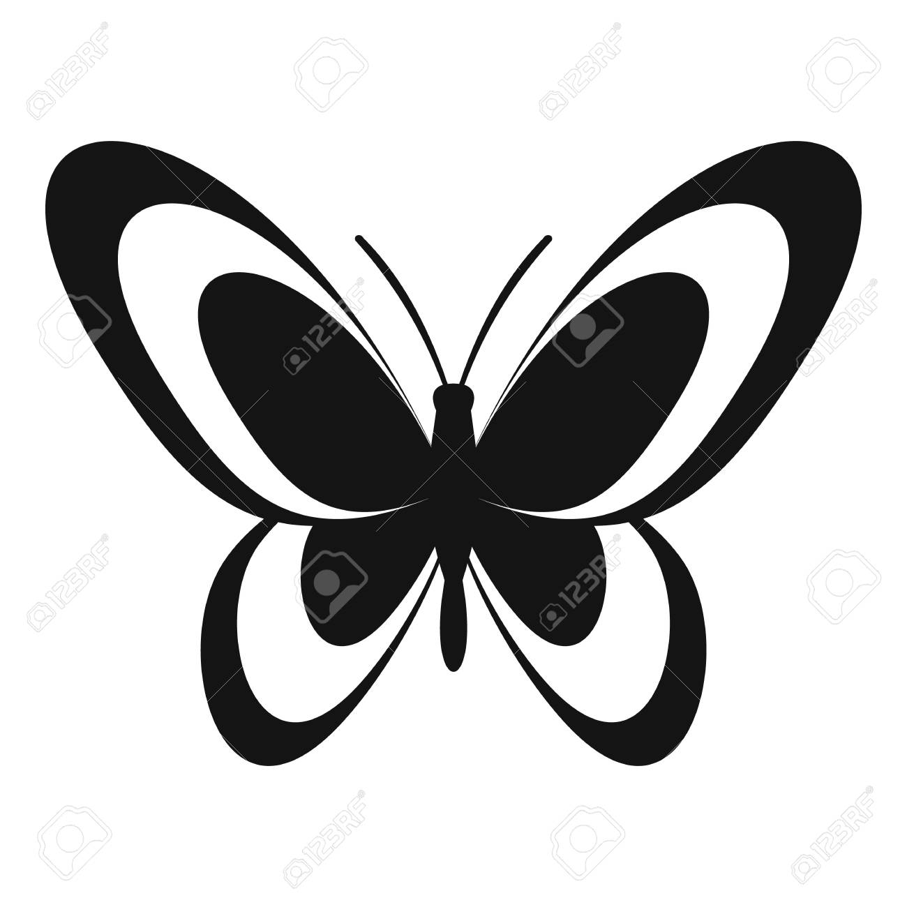 butterfly icon simple illustration of butterfly vector icon rh 123rf com butterfly vector free butterfly vector with swirl
