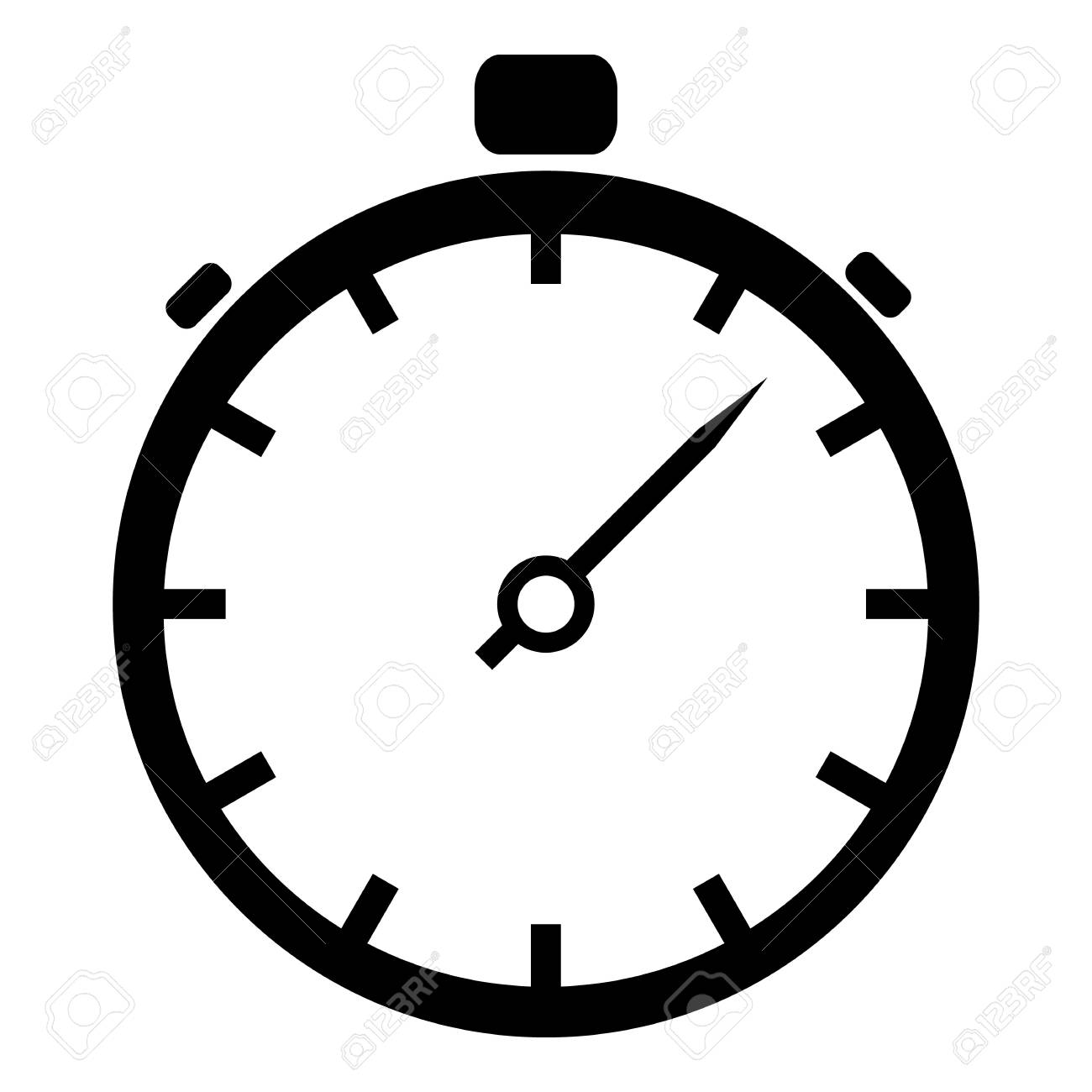 stopwatch icon simple illustration of stopwatch vector icon