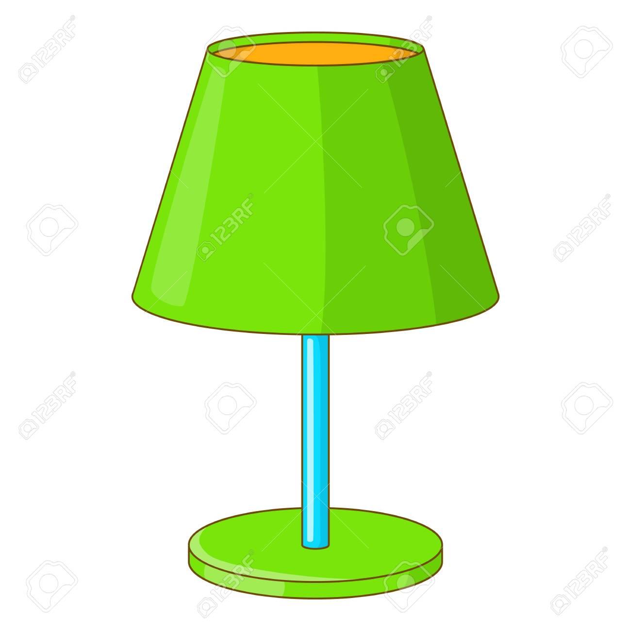 Icono De La Lámpara De Escritorio Verde. Ilustración De Dibujos ...