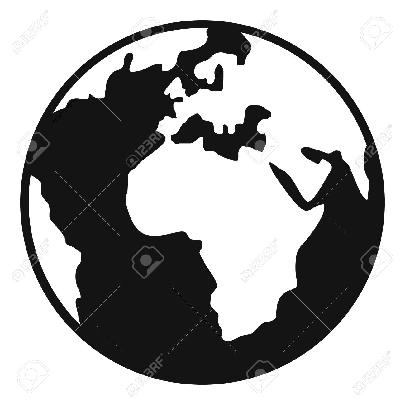 earth globe icon simple illustration of earth globe vector icon rh 123rf com vector earthquake crack drawing tutorial vector earthquake tiller parts