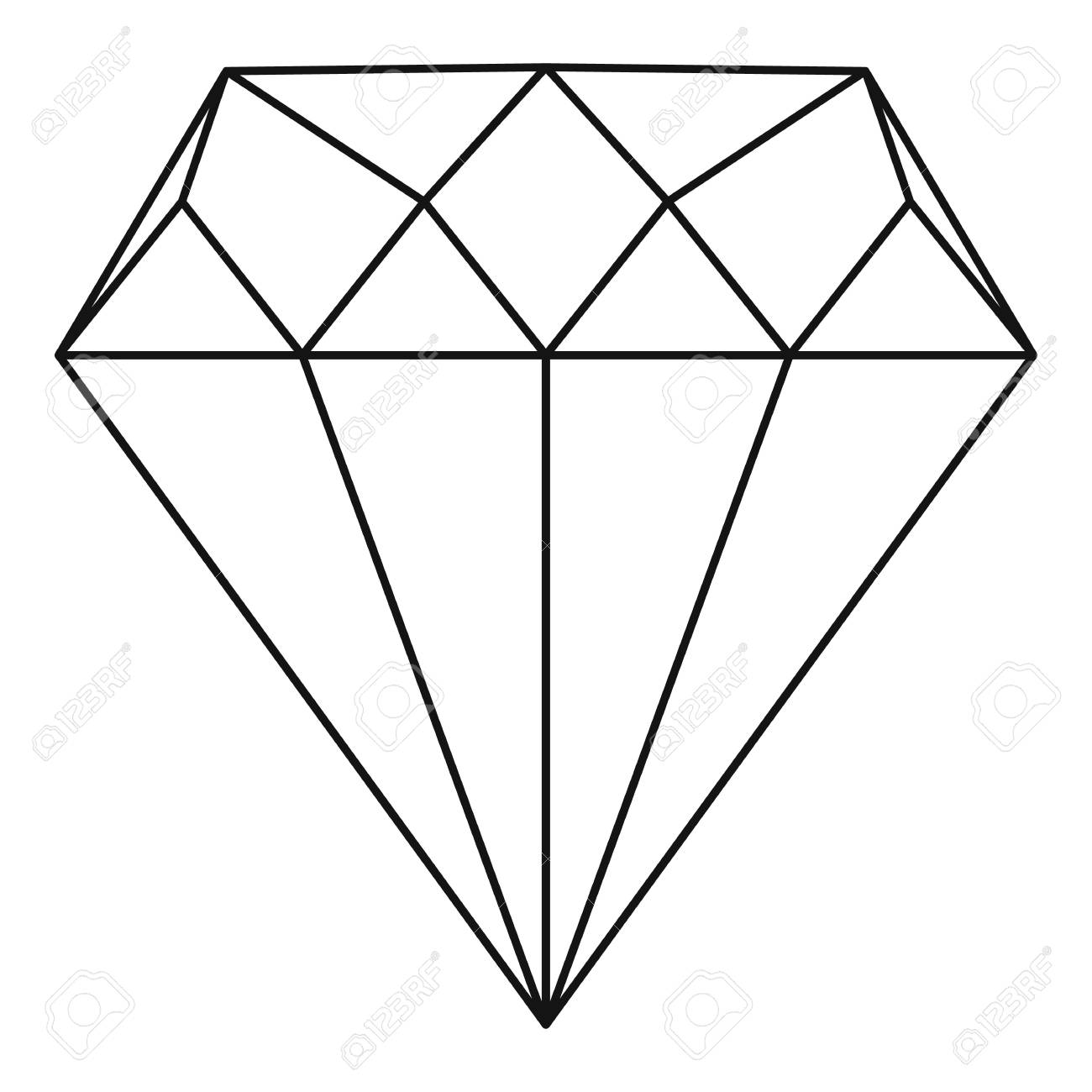 diamond icon outline illustration of diamond vector icon for rh 123rf com vector diamond design vector diamond font