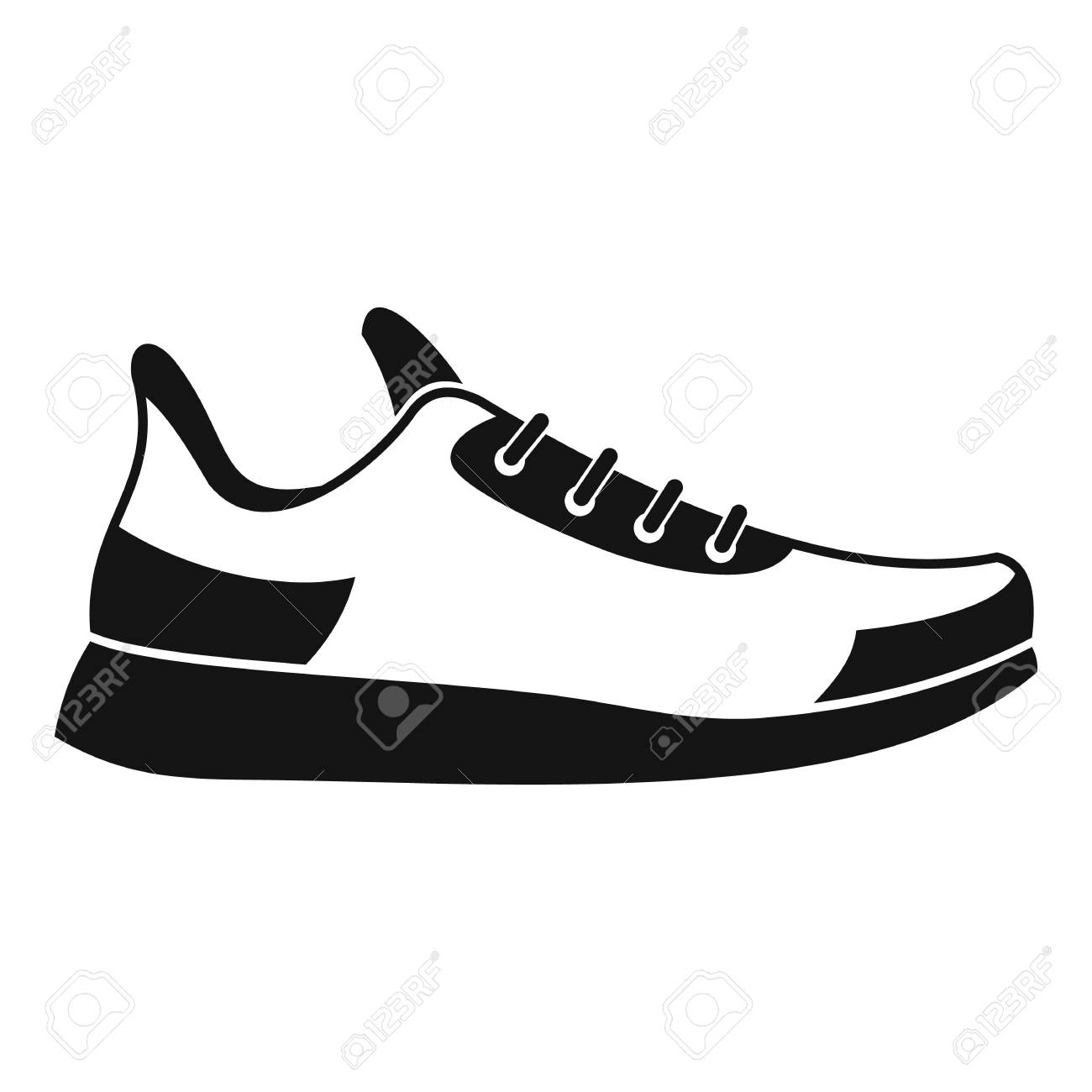 sneaker icon simple illustration of sneaker vector icon for rh 123rf com sneaker vector png sneaker vector outline