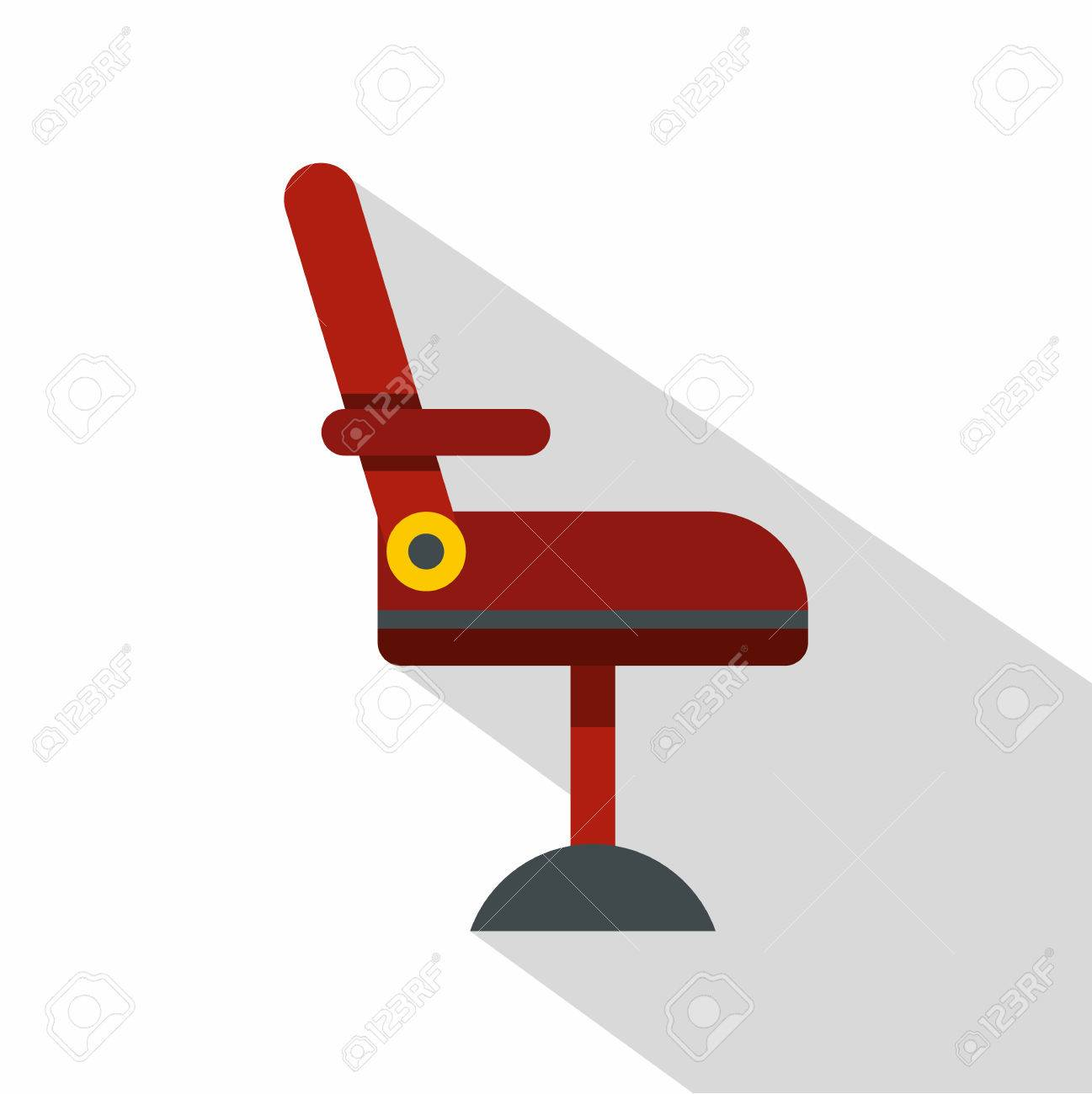 Barber chair vector - Red Barber Chair Icon Flat Illustration Of Red Barber Chair Vector Icon For Web Isolated