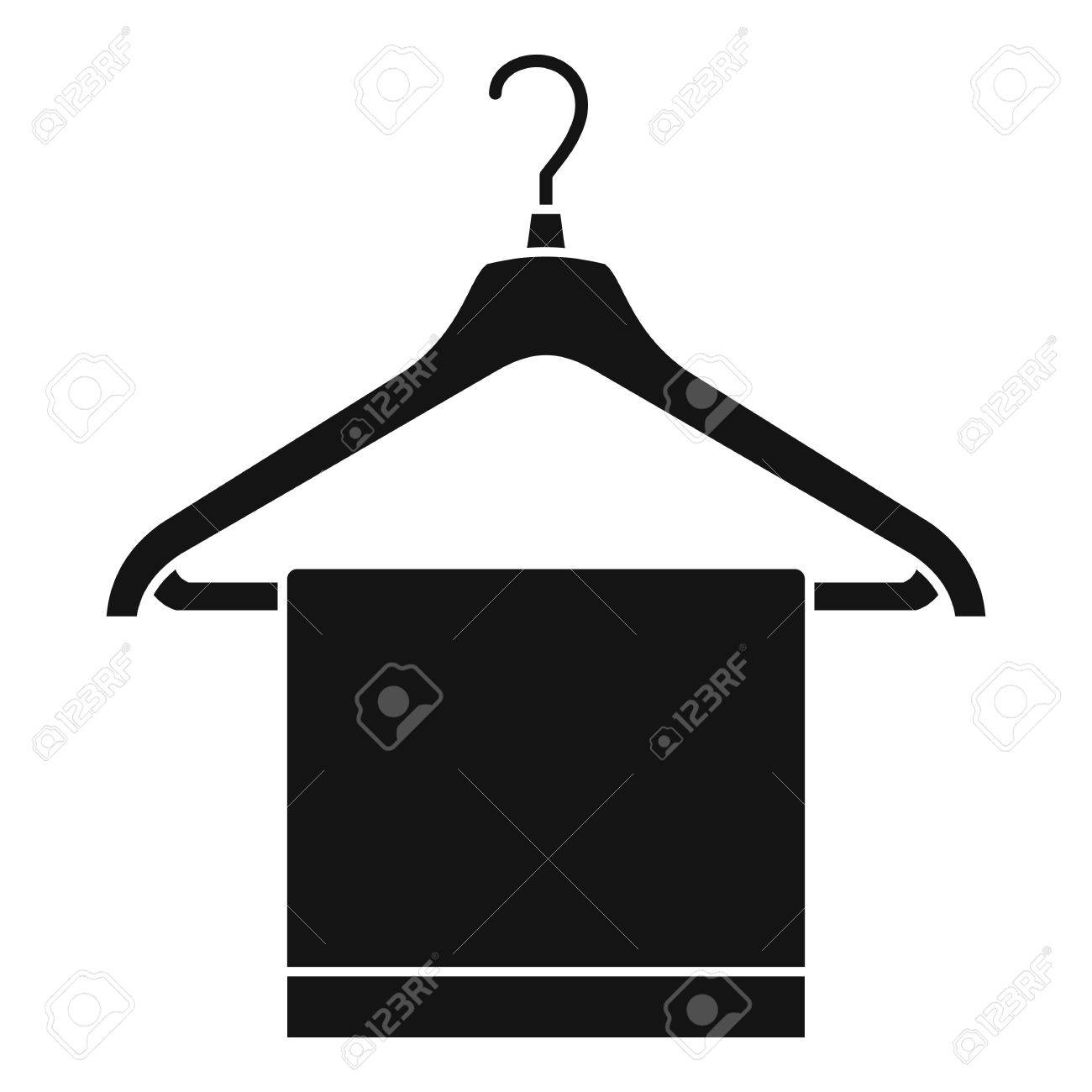 Kleiderbugel Mit Stoff Symbol Einfache Illustration Des Aufhangers