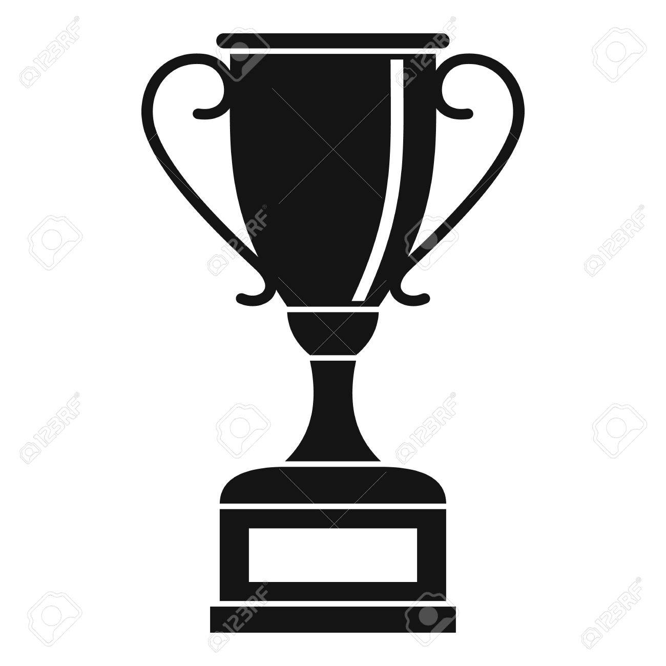 Winning Gold Cup Icon Simple Illustration Of