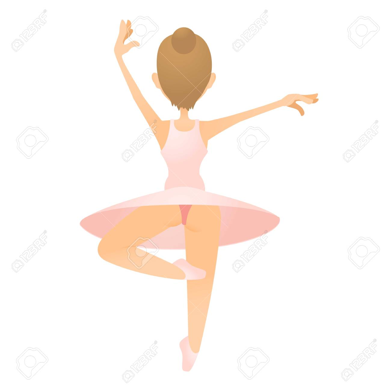 ballerina icon flat illustration of ballerina vector icon for rh 123rf com ballerina vectors free ballerina vector png