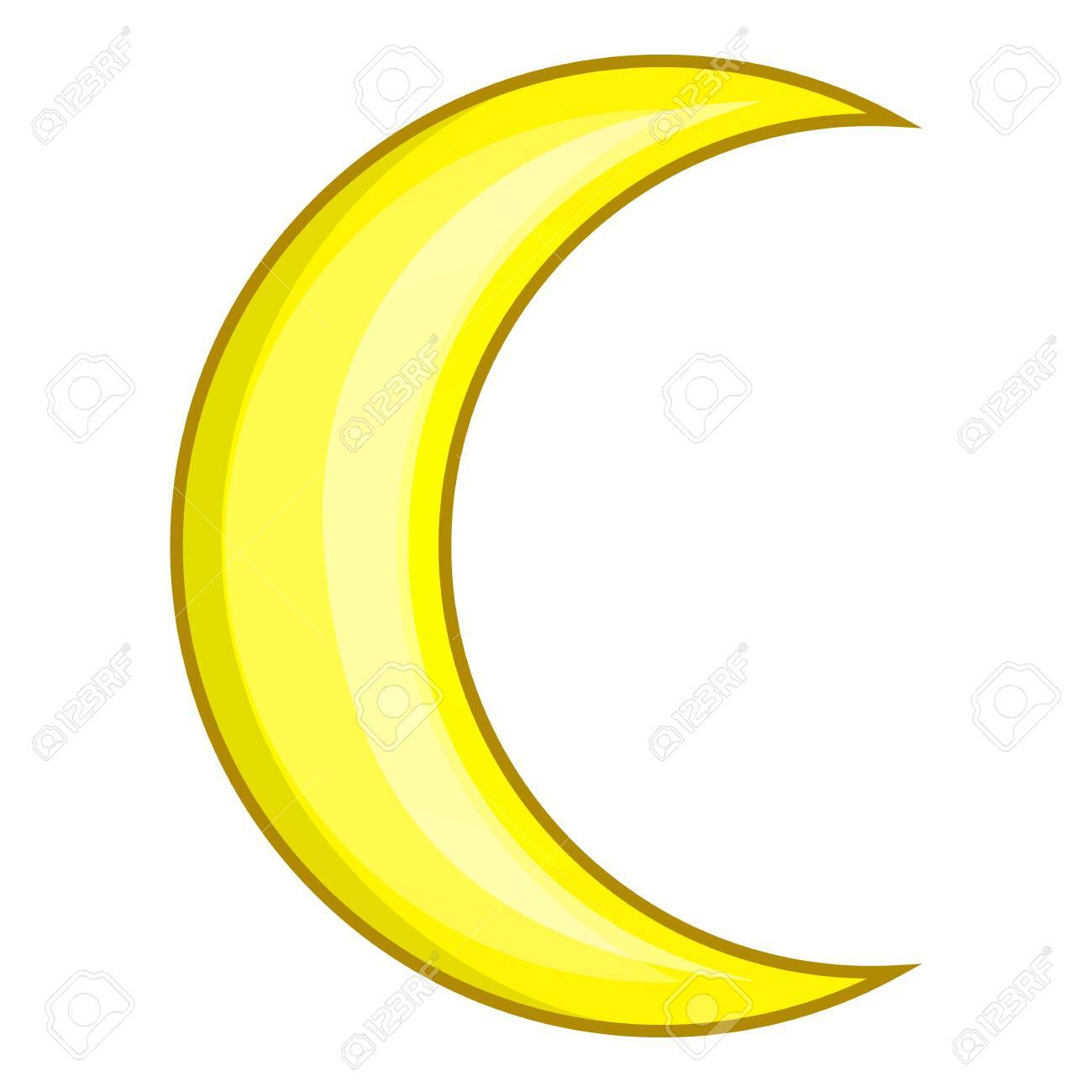 crescent moon icon cartoon illustration of moon vector icon royalty free cliparts vectors and stock illustration image 67219939 crescent moon icon cartoon illustration of moon vector icon