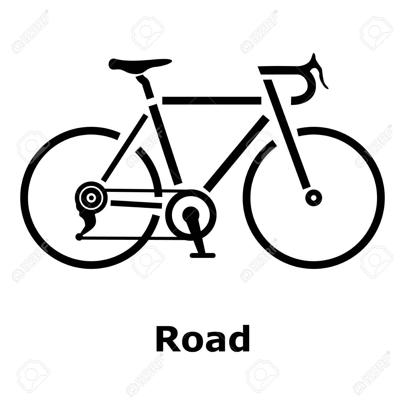 road bike icon simple illustration of road bike vector icon rh 123rf com vector bicycle free vector bicycle clip art free vector