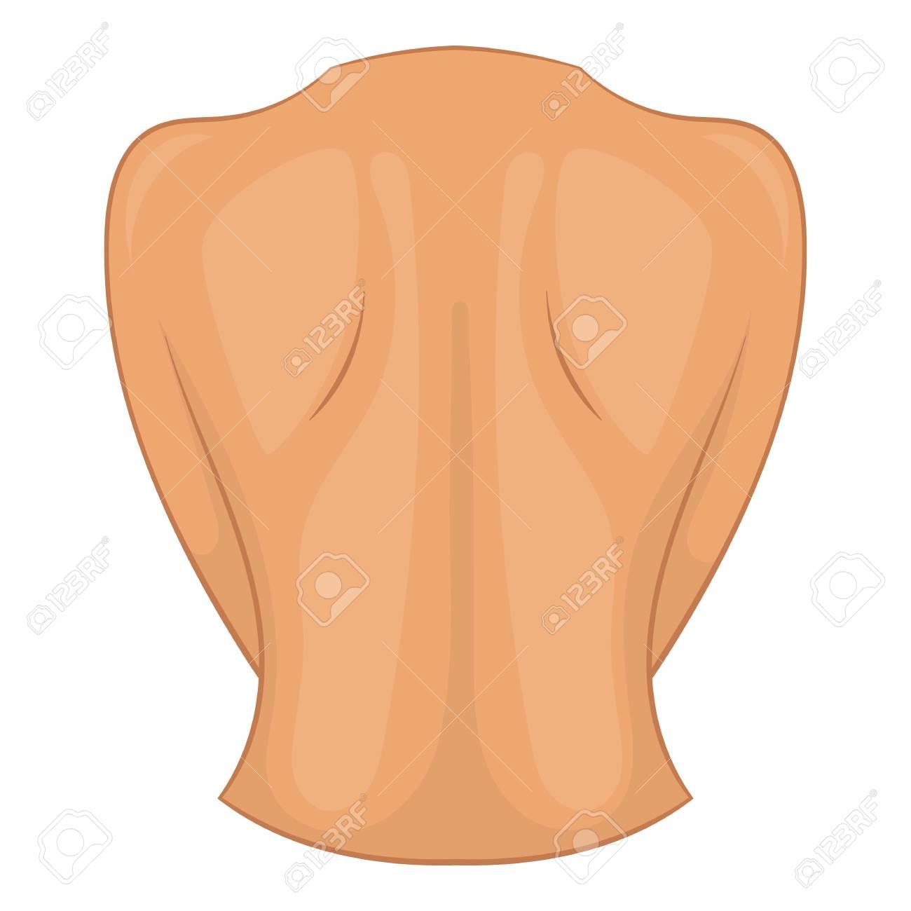 Icono De Espalda De Mujer Ilustración De Dibujos Animados De Icono