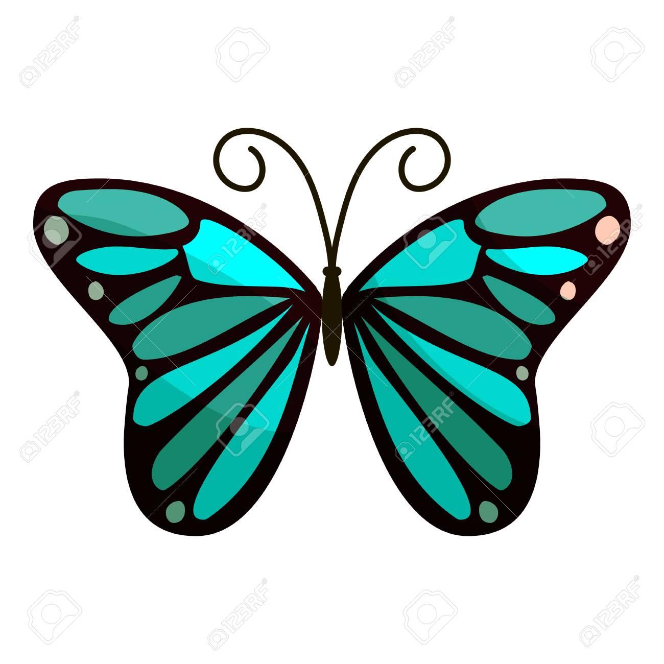 icono de mariposa brillante ilustración de dibujos animados de
