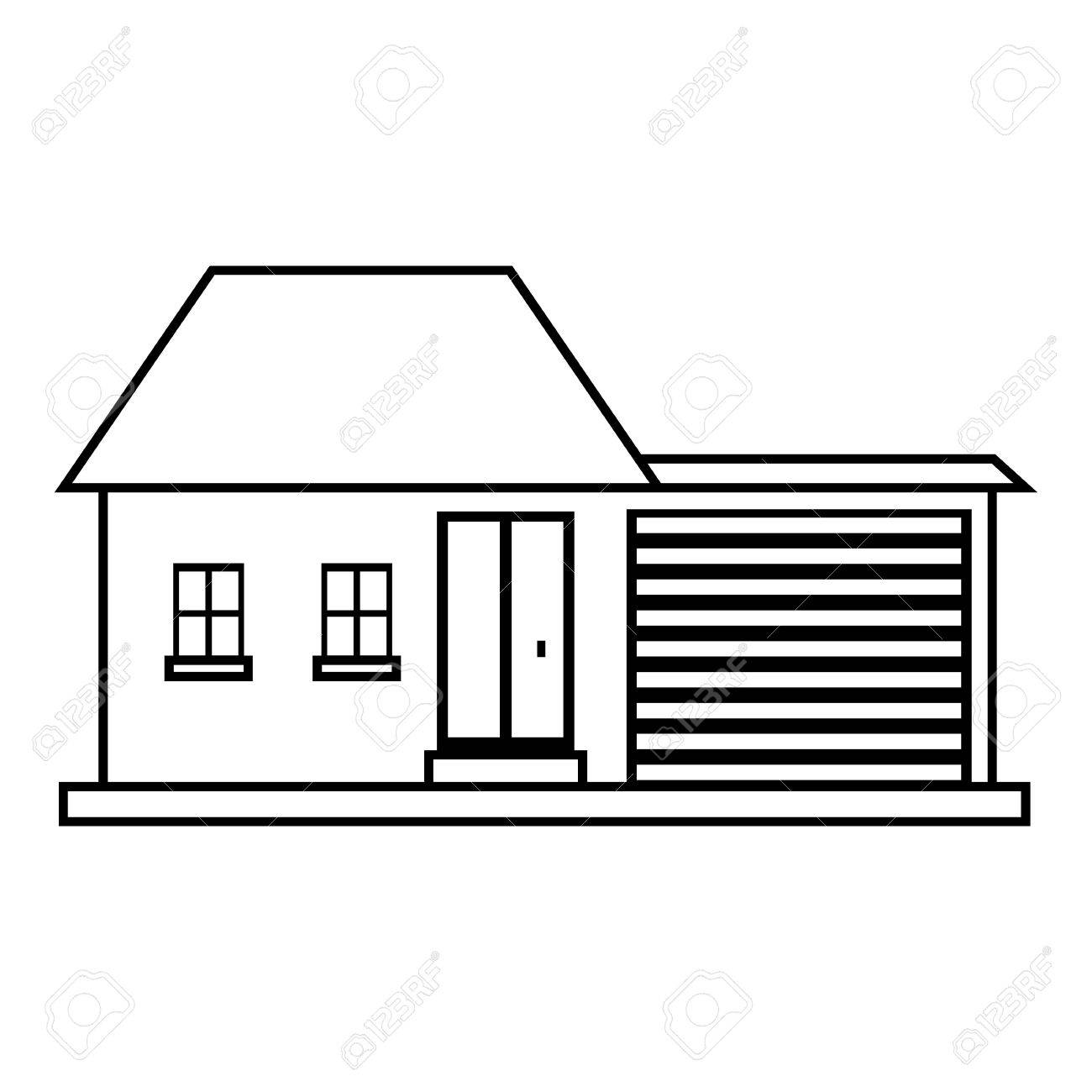 Small House Icon Outline Illustration Of House Vector Icon For