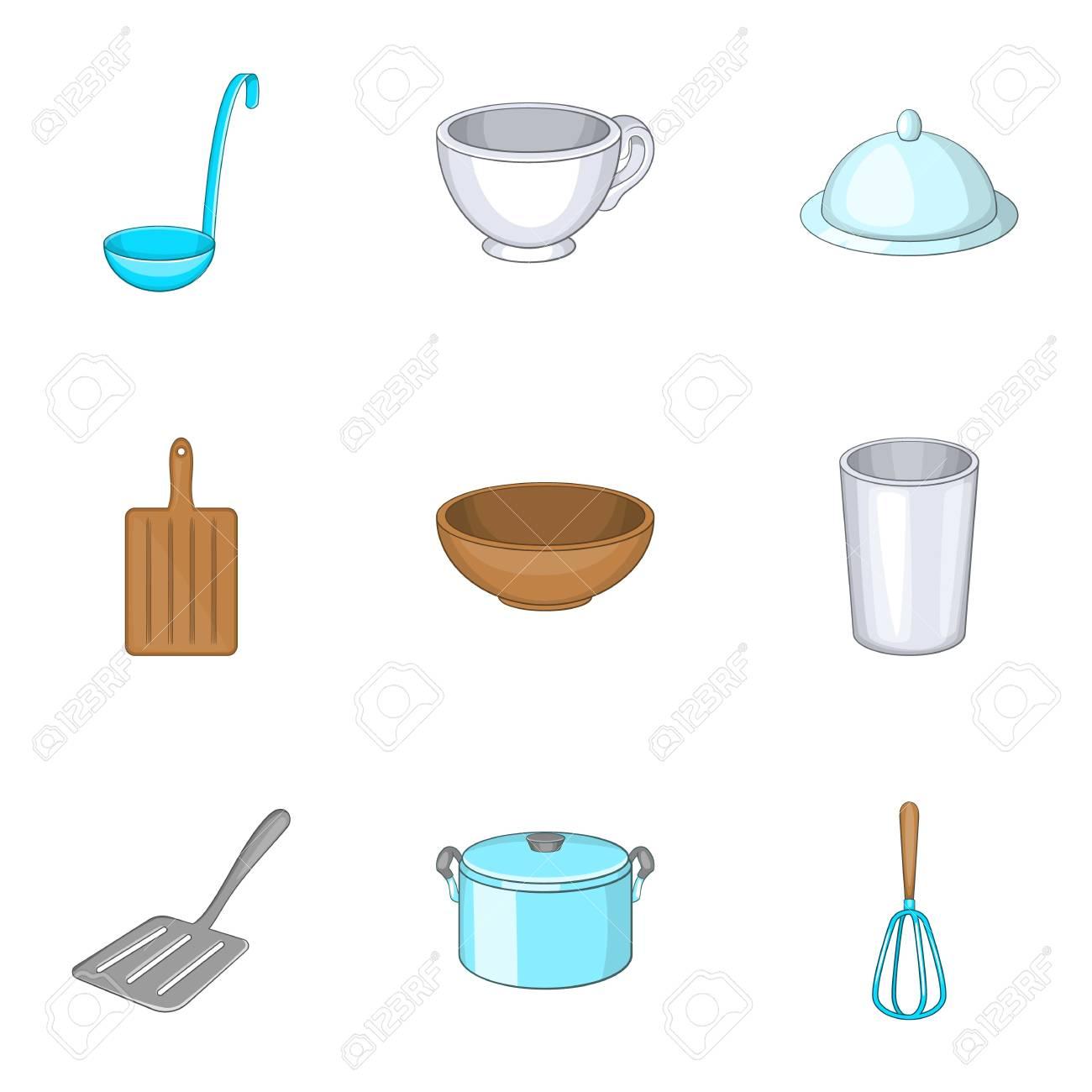 Iconos Conjunto De Utensilios De Cocina Ilustracion De Dibujos