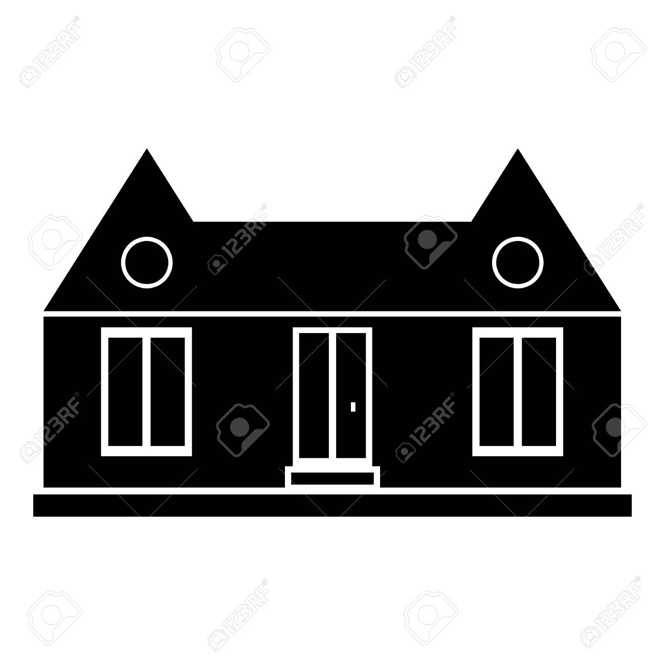 suburban american house icon simple illustration of house vector rh 123rf com white house vector art white house vector free