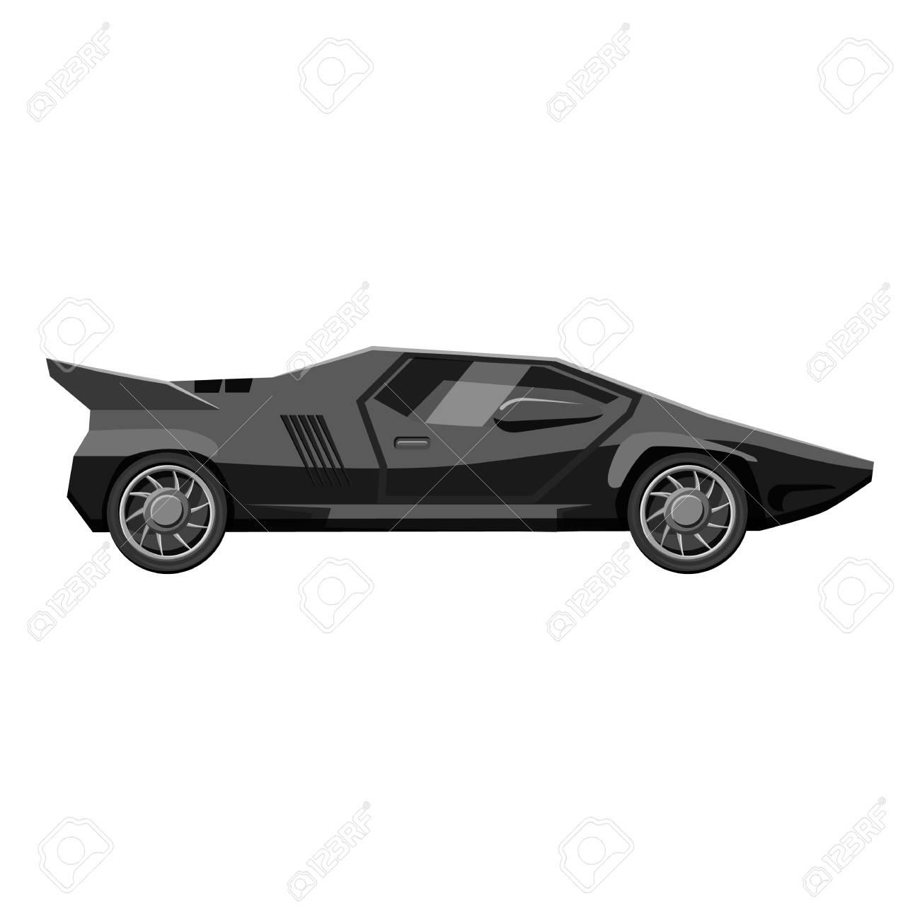 Racing Car Icon Gray Monochrome Illustration Of Car Vector Icon