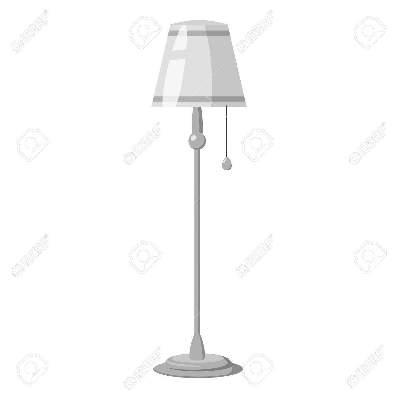 Icone De Lampadaire Illustration Monochrome Gris De L Icone De