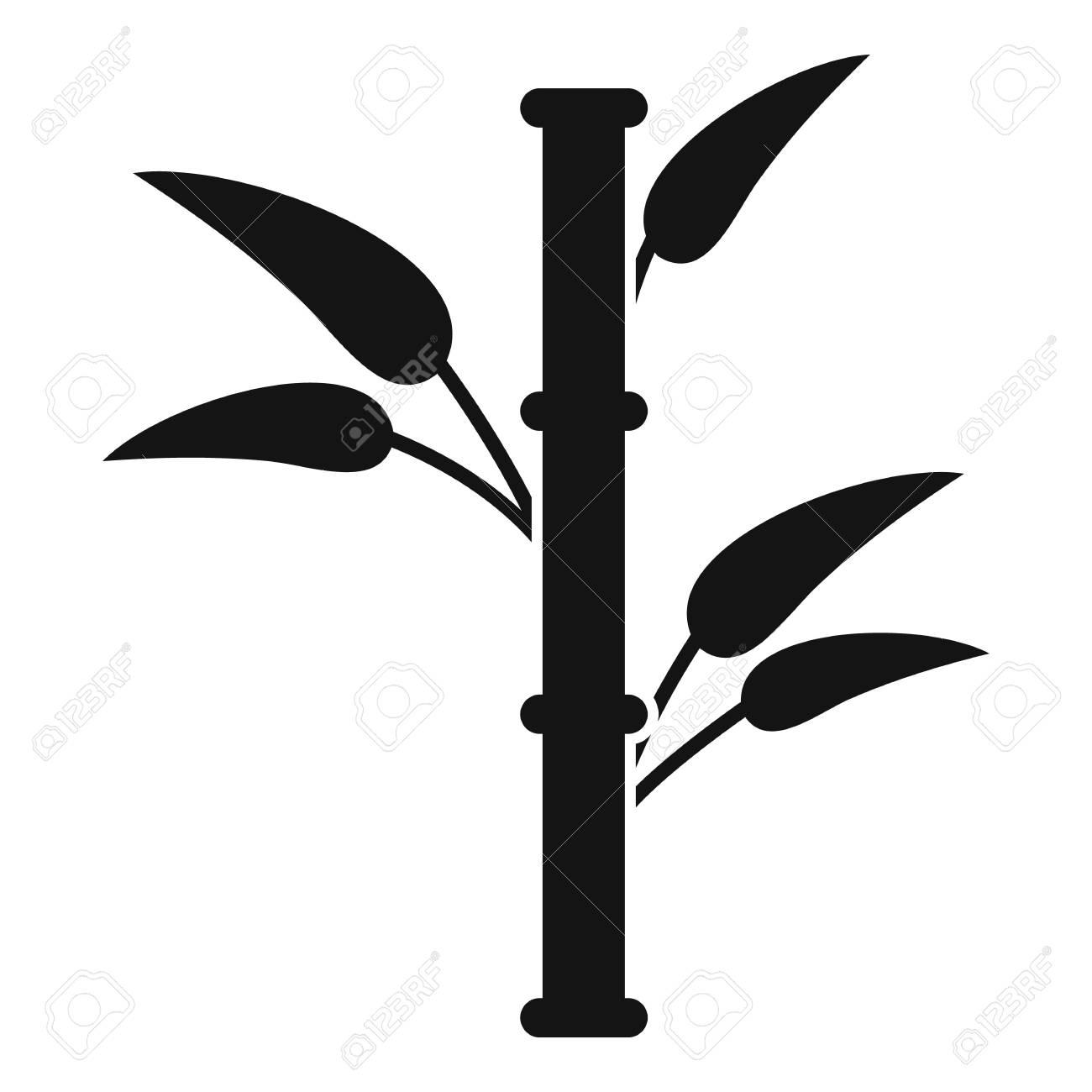Bambus Symbol Einfache Darstellung Der Bambus Vektor Symbol Fur Web