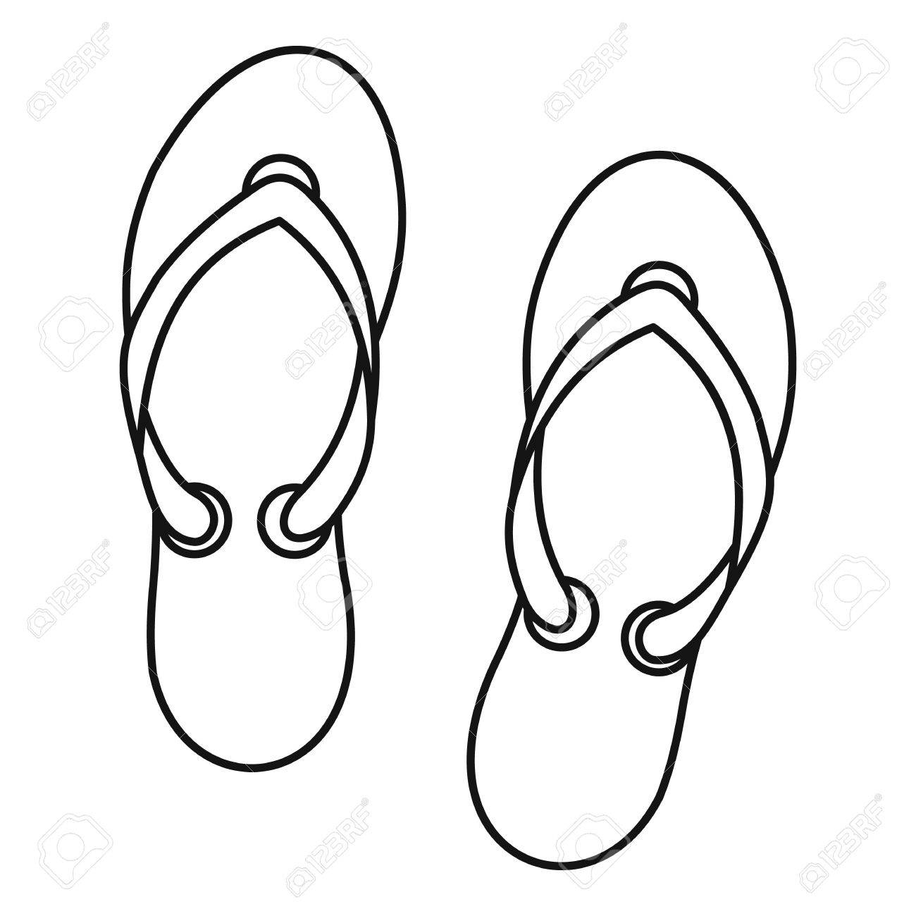 bae838b4ba16 Flip flop sandals icon. Outline illustration of flip flop sandals vector  icon for web design