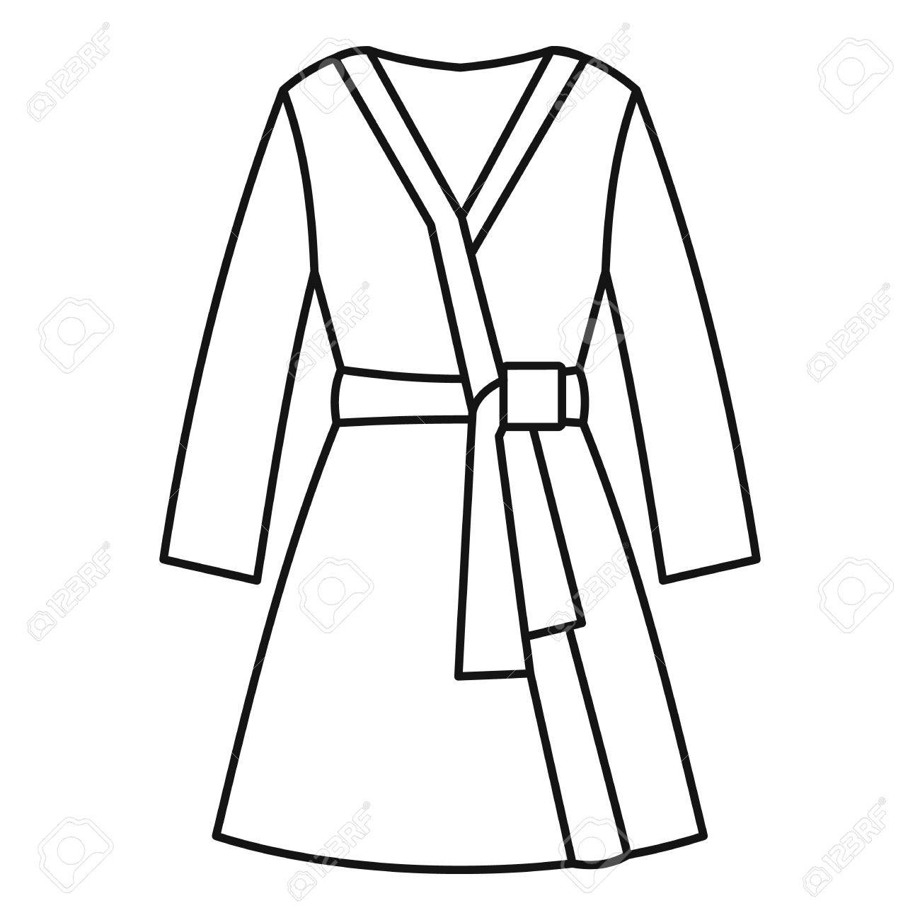 Bathrobe Icon Outline Illustration Of Vector For Web Design Stock