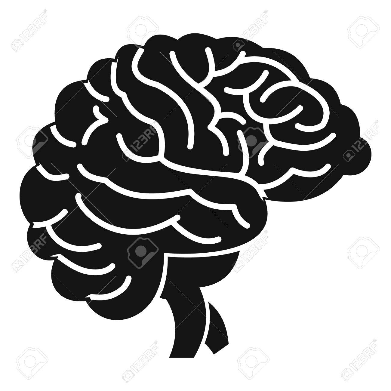 brain icon simple illustration of brain vector icon for web royalty rh 123rf com brain vector file brain vector art free