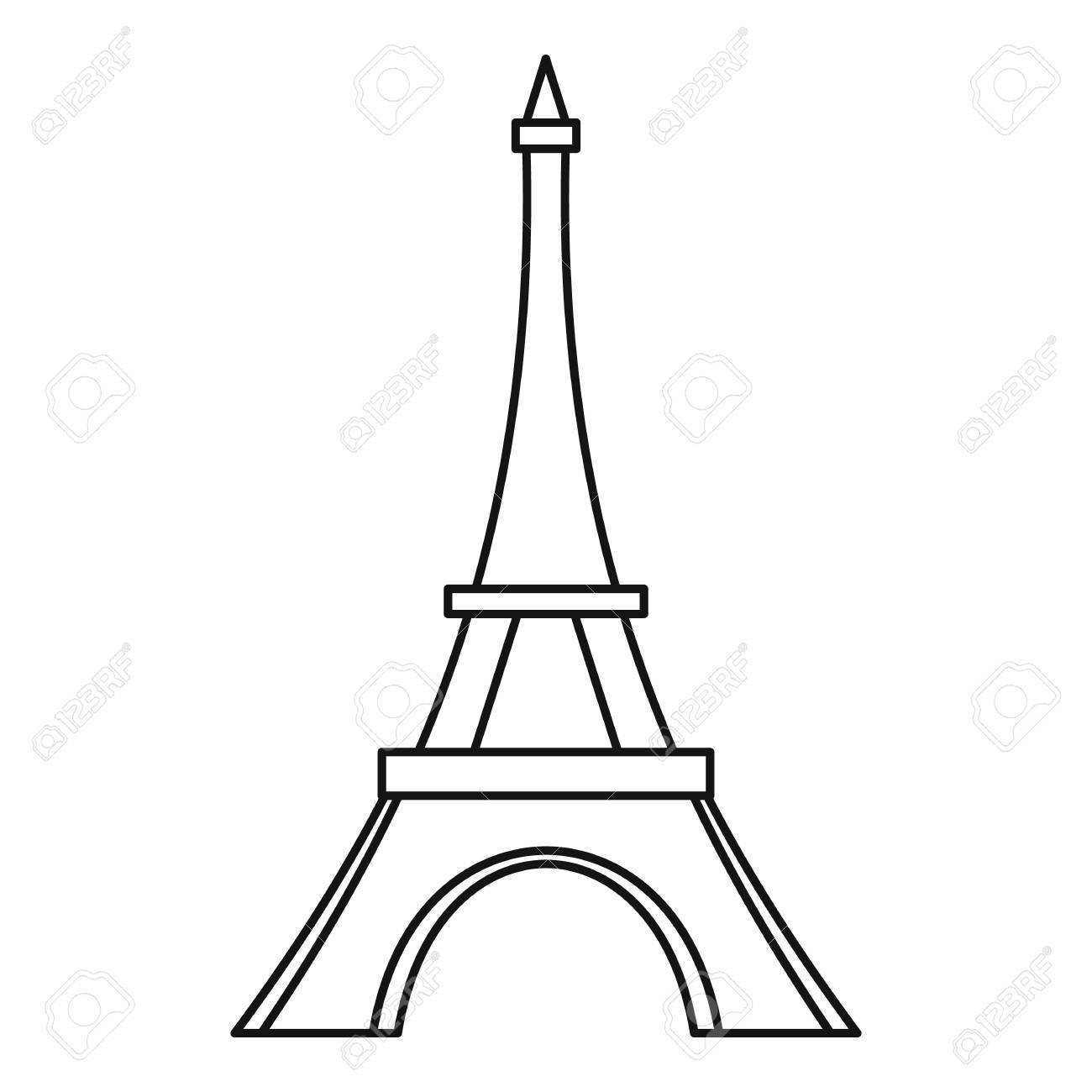 Eiffel tower icon outline illustration of eiffel tower vector eiffel tower icon outline illustration of eiffel tower vector icon for web stock vector thecheapjerseys Gallery