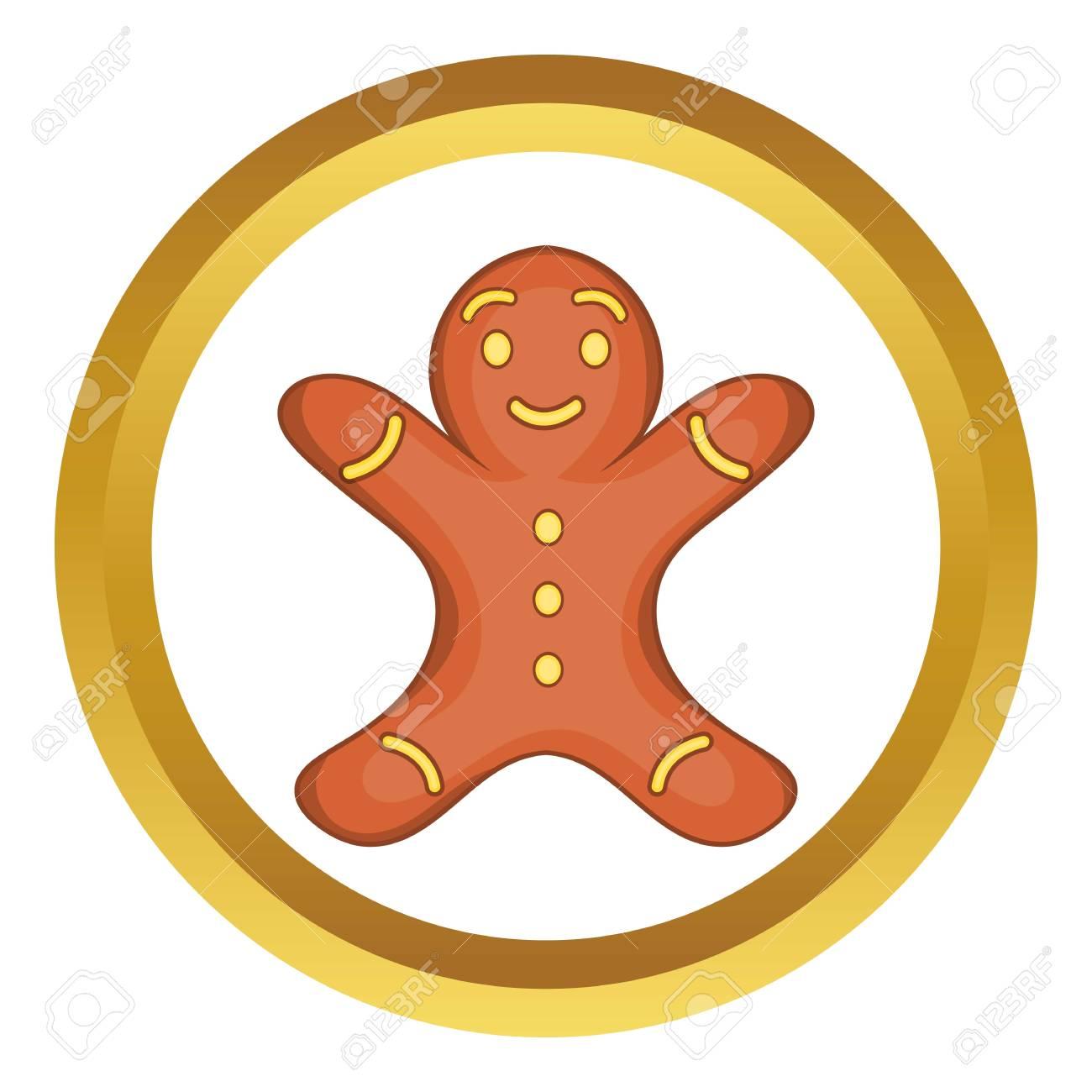Biscuit De Bonhomme En Pain Dépice Dans Le Style De Dessin Animé