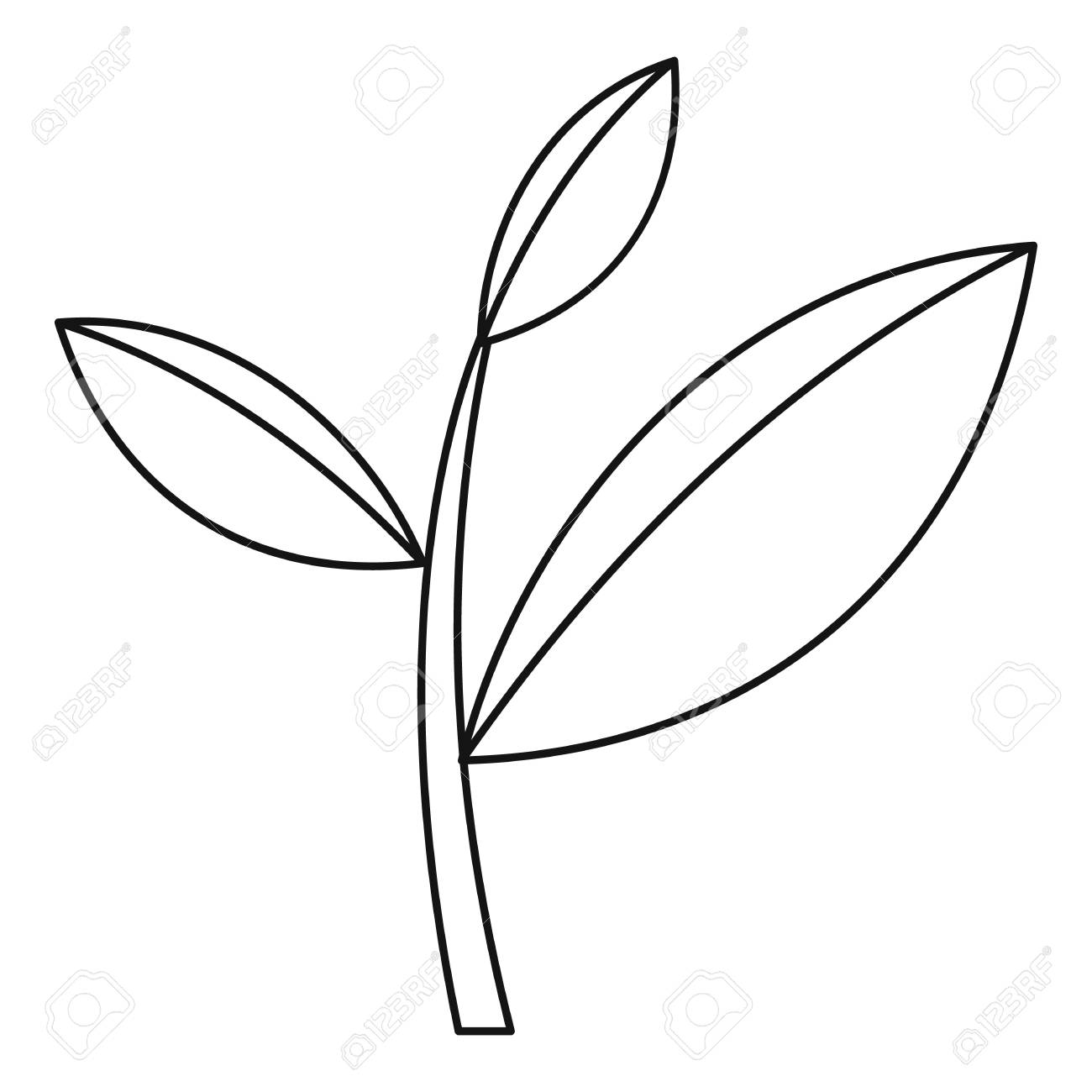 Tea leaf icon outline illustration of tea leaf vector icon for tea leaf icon outline illustration of tea leaf vector icon for web stock vector thecheapjerseys Image collections
