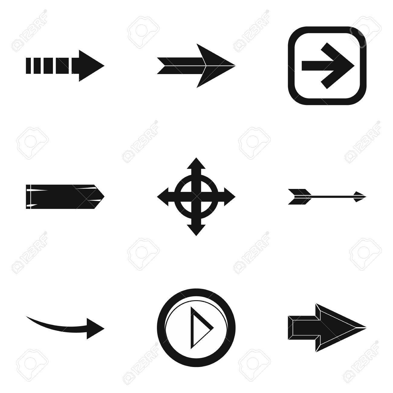 types of arrows icons set simple illustration of 9 types of rh 123rf com Arrow Vector Clip Art Indian Arrow Vector