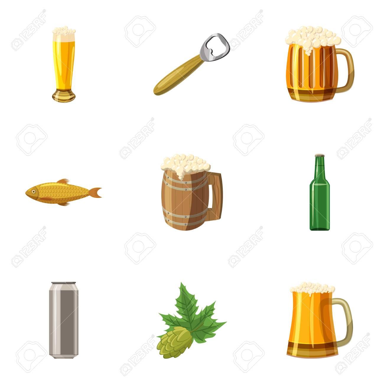 cones do festival de cerveja alcoólicas definido ilustração dos