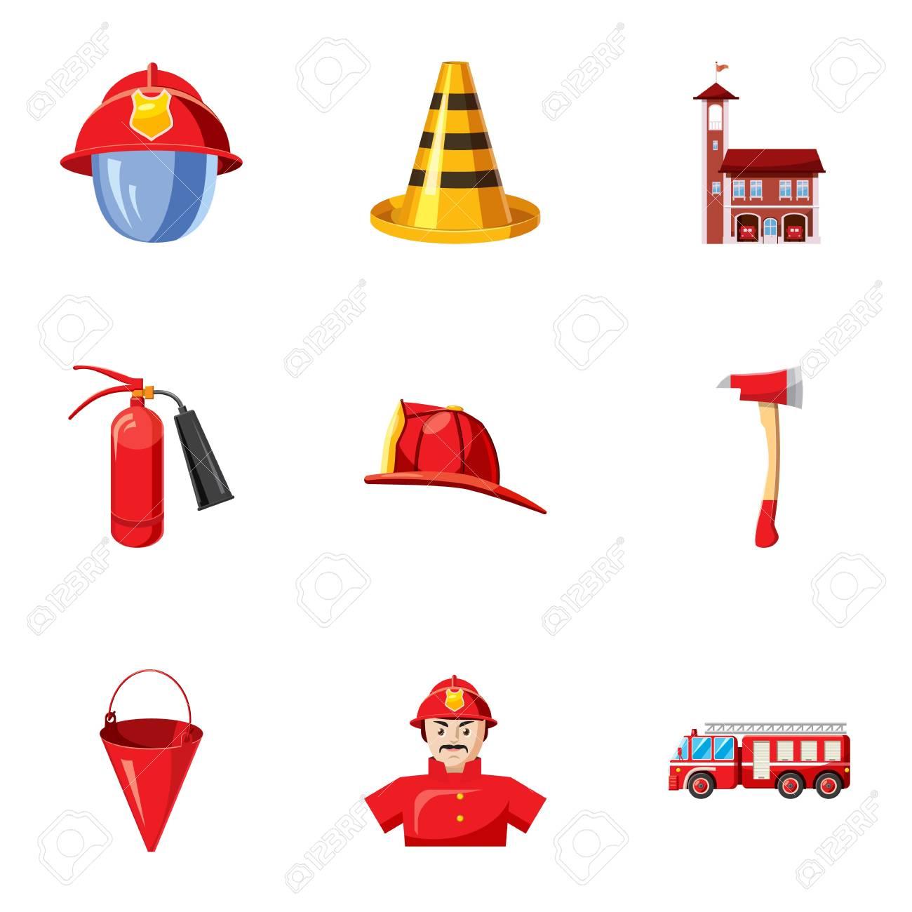 cones profissão de fogo definido ilustração dos desenhos animados