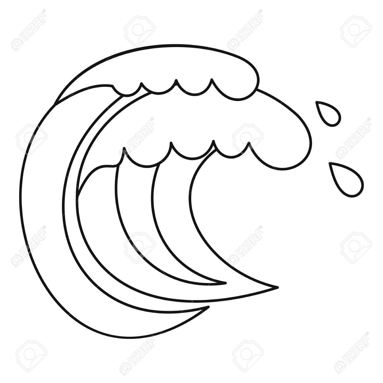 Wave Of Sea Tide Icon Outline Illustration Of Wave Of Sea Tide