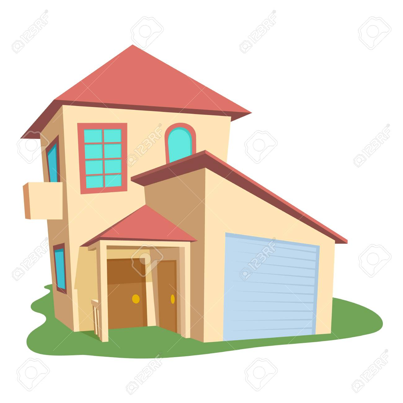 modern house icon cartoon illustration of modern house vector rh 123rf com house vector free download house vector free commercial use
