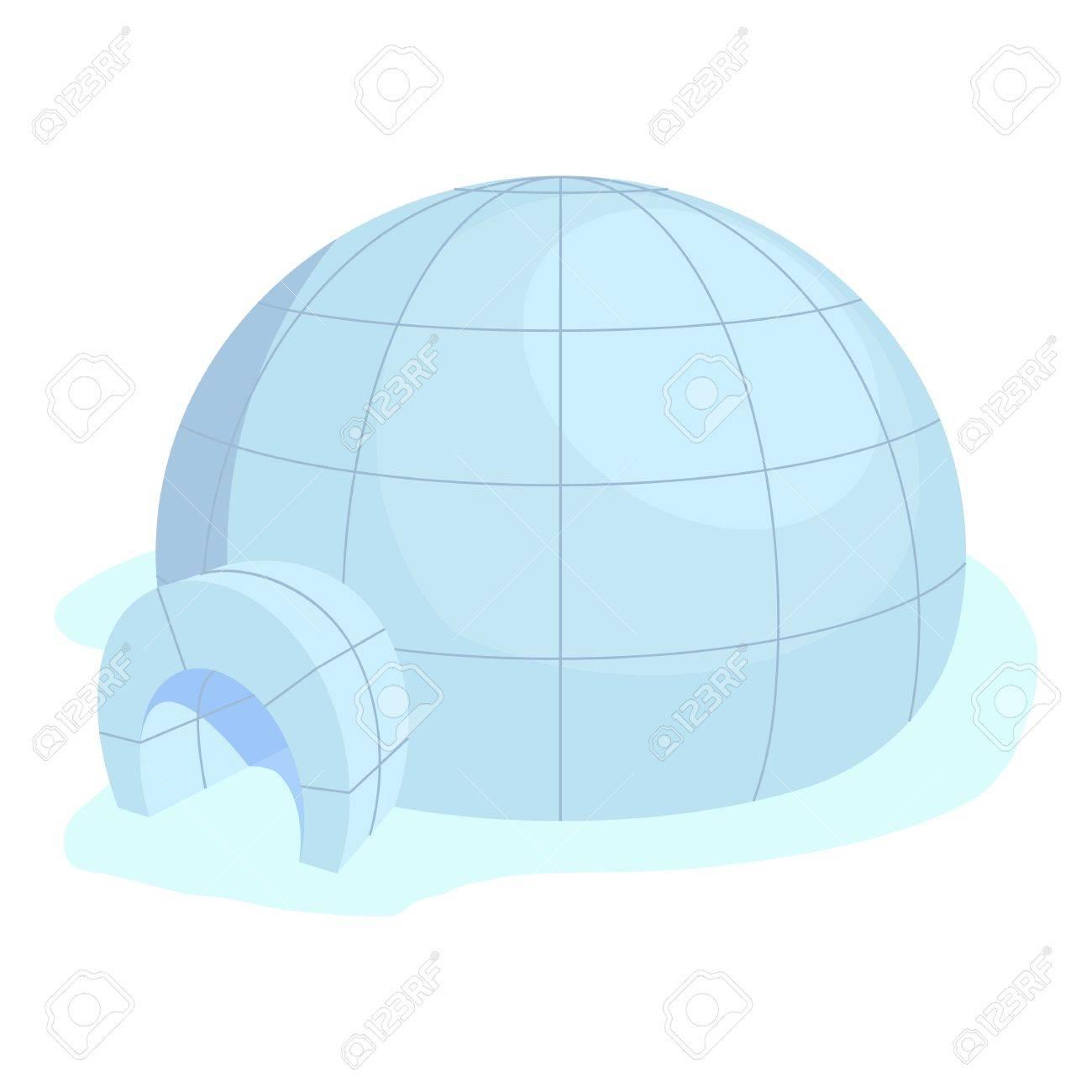 Icono De Iglú Ilustración De Dibujos Animados De Vectores Icono De Iglú Para La Web