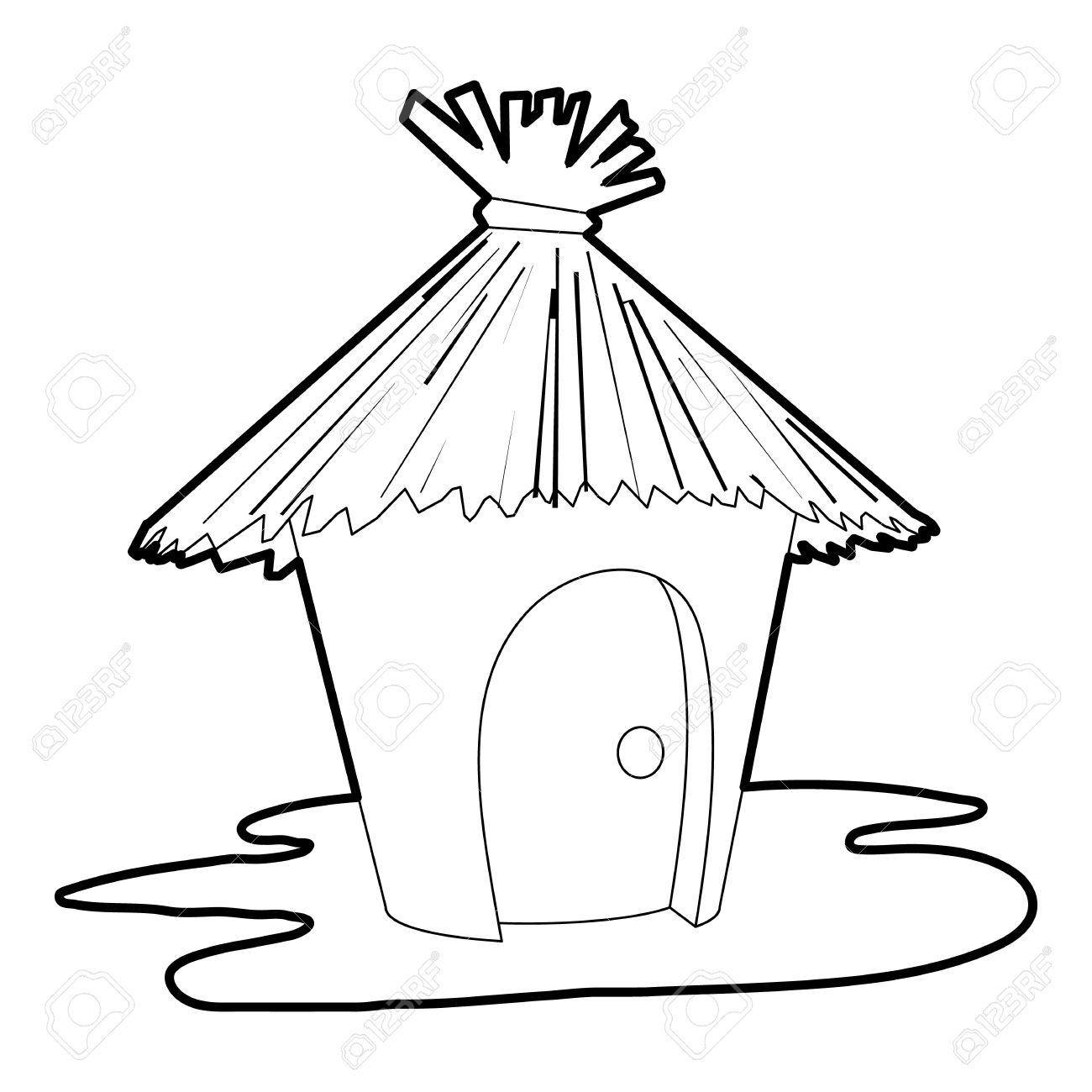 Hut Icon Outline Illustration Of Vector For Web Stock