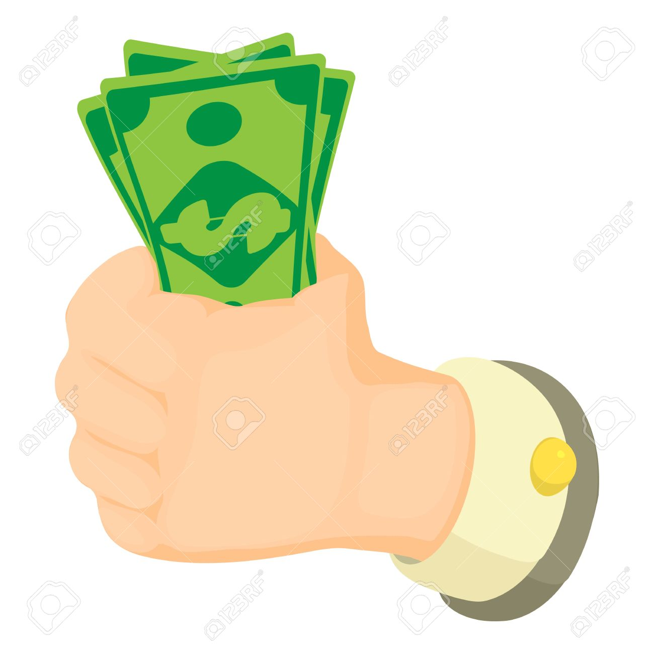cash in hand icon cartoon illustration of cash in hand vector