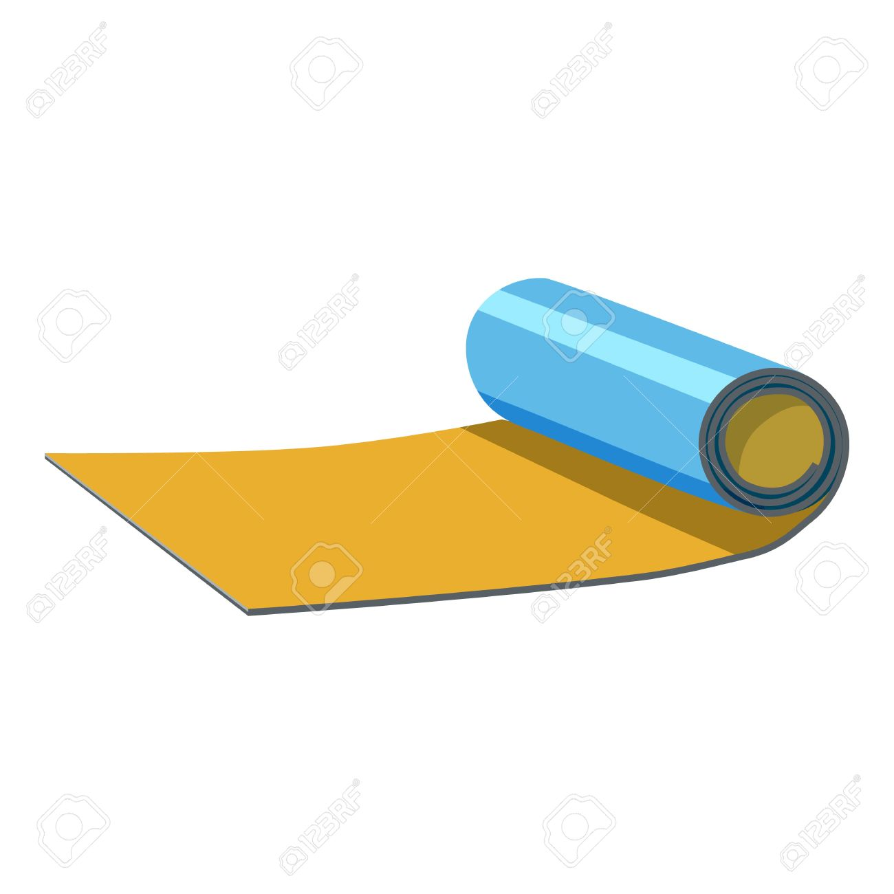 Rolled up mat icon  Cartoon illustration of rolled up map vector