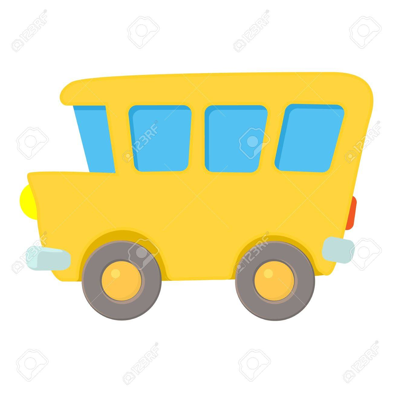 Icône De L Autobus Scolaire Illustration De Dessin Animé De L Icône De Vecteur De Bus Scolaire Pour Le Web