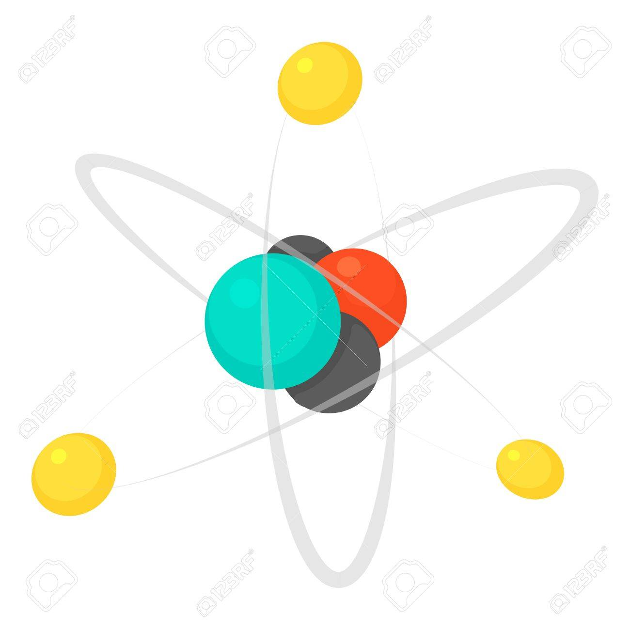 molecule icon cartoon illustration of molecule vector icon for