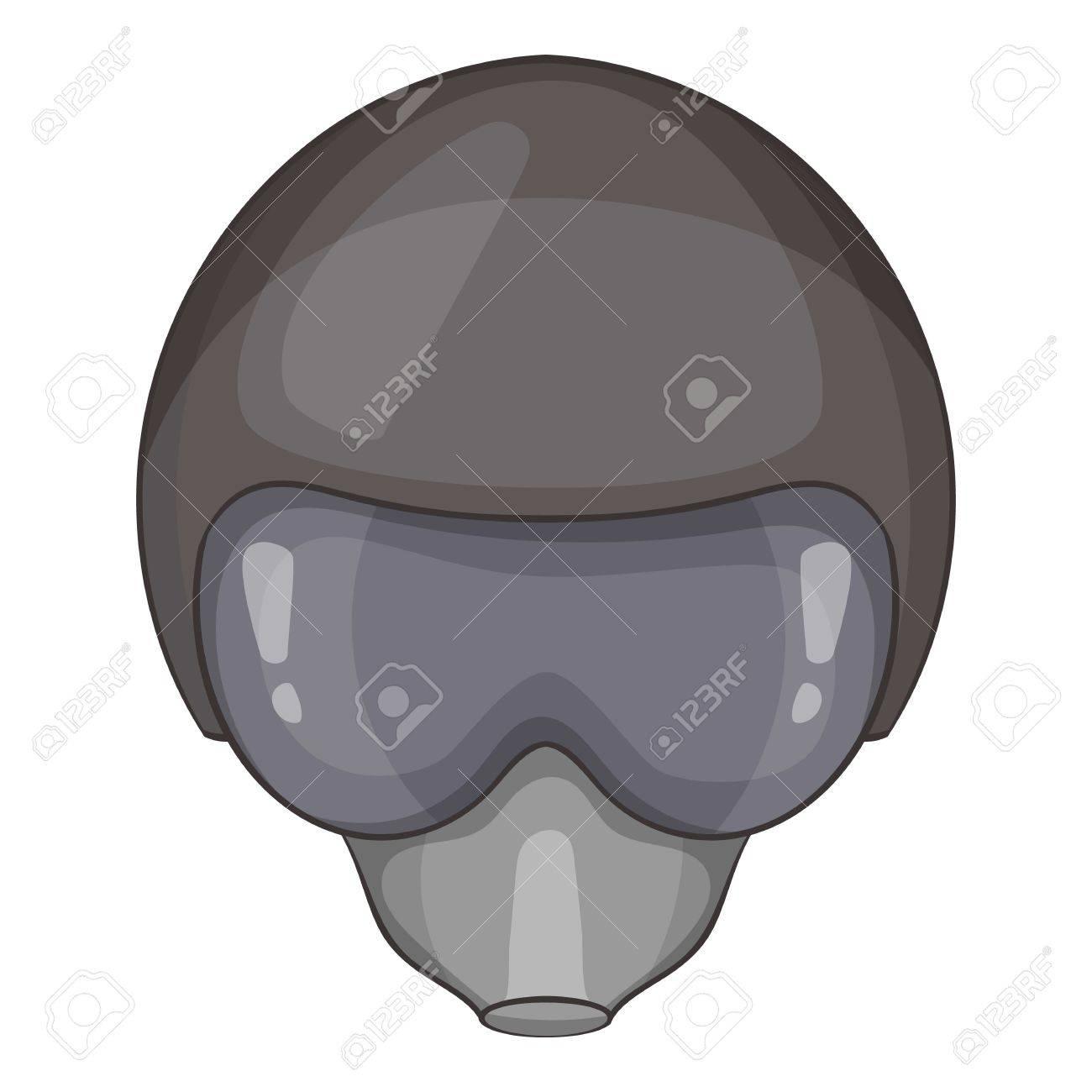 4d529384c7 Pilot helmet icon. Cartoon illustration of pilot helmet vector icon for web Stock  Vector -