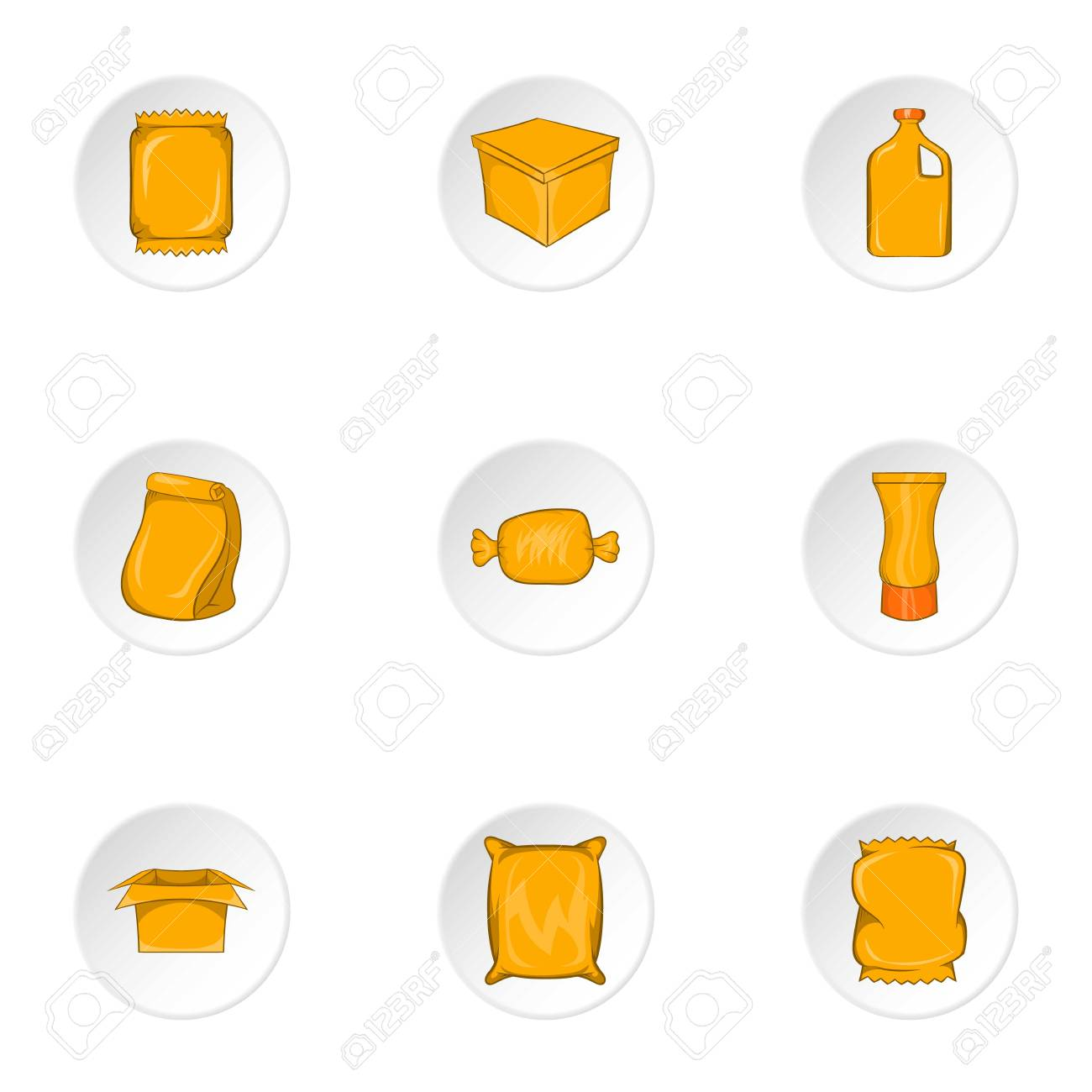 packaging icons set cartoon illustration of 9 packaging vector rh 123rf com vector packaging design vector packaging free