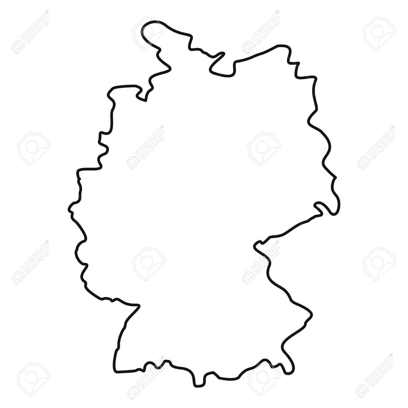 Map Of Germany Outline.Germany Map Icon Outline Illustration Of Germany Map Vector