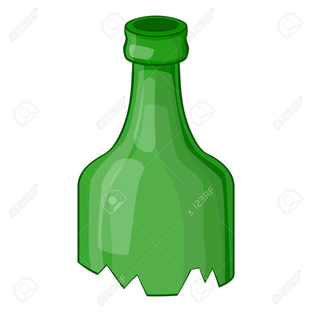 broken bottle icon cartoon illustration of broken bottle vector rh 123rf com bottle vector silhouettes bottle vector free download