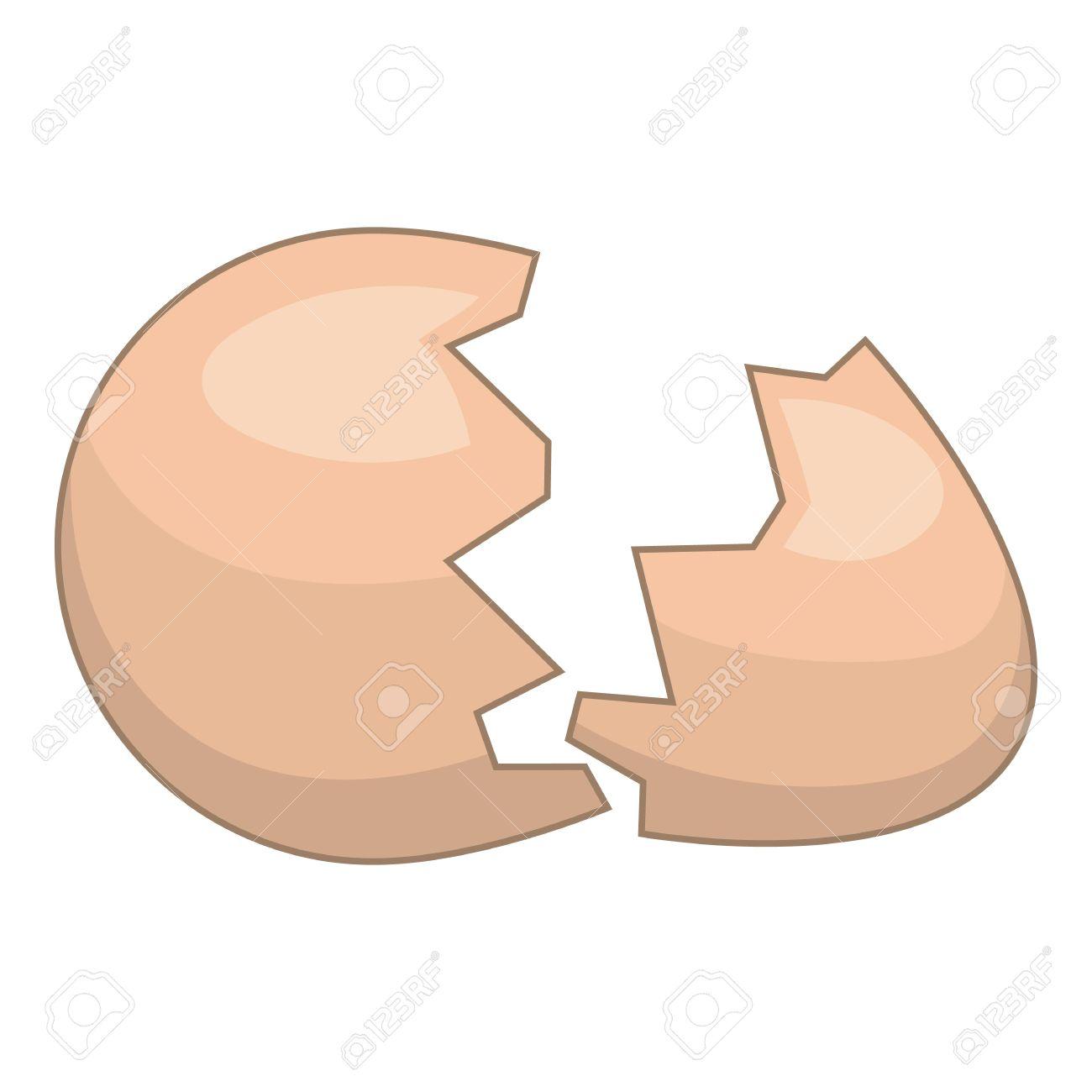 Eggshell icon. Cartoon illustration of eggshell vector icon for web - 67520352